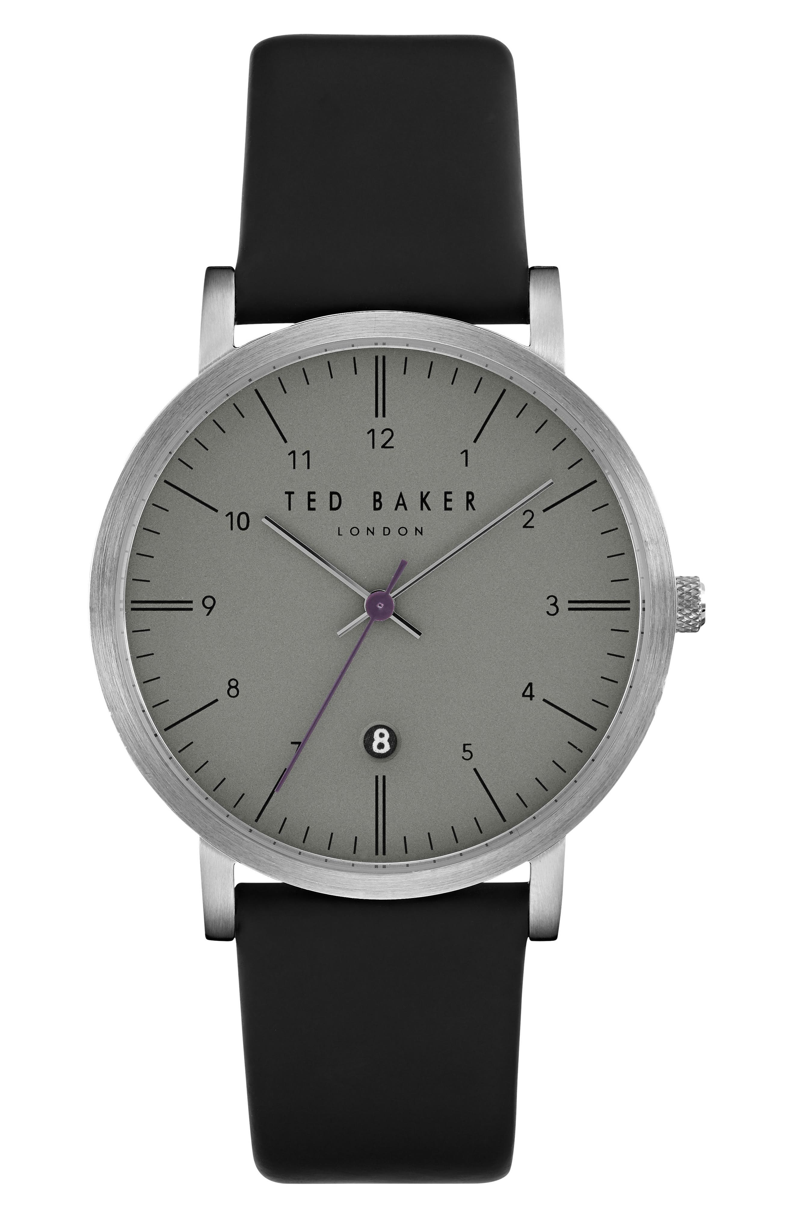 Main Image - Ted Baker London Samuel Slim Leather Strap Watch, 40mm