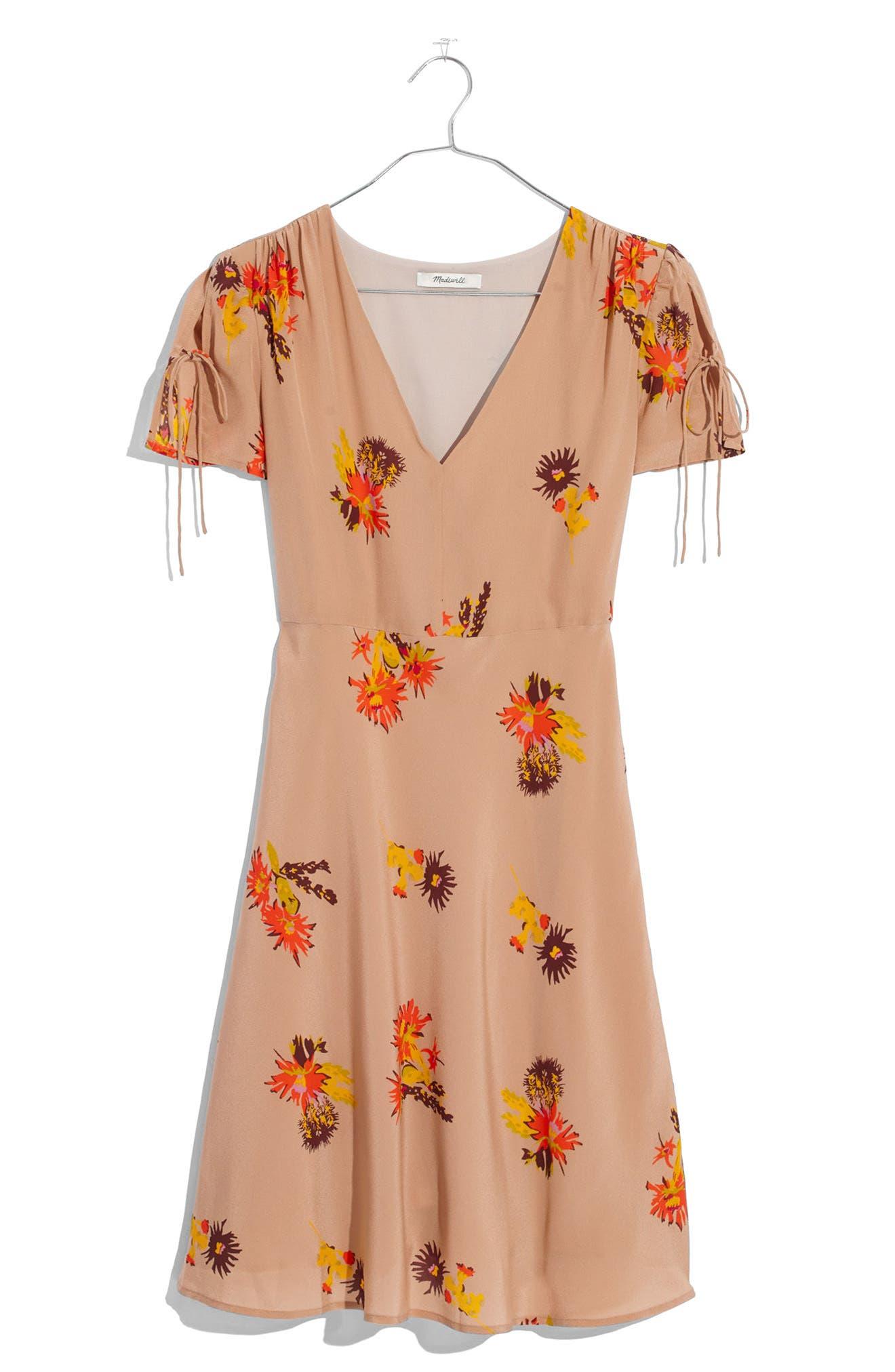 Alternate Image 1 Selected - Madewell Cactus Flower Silk Dress