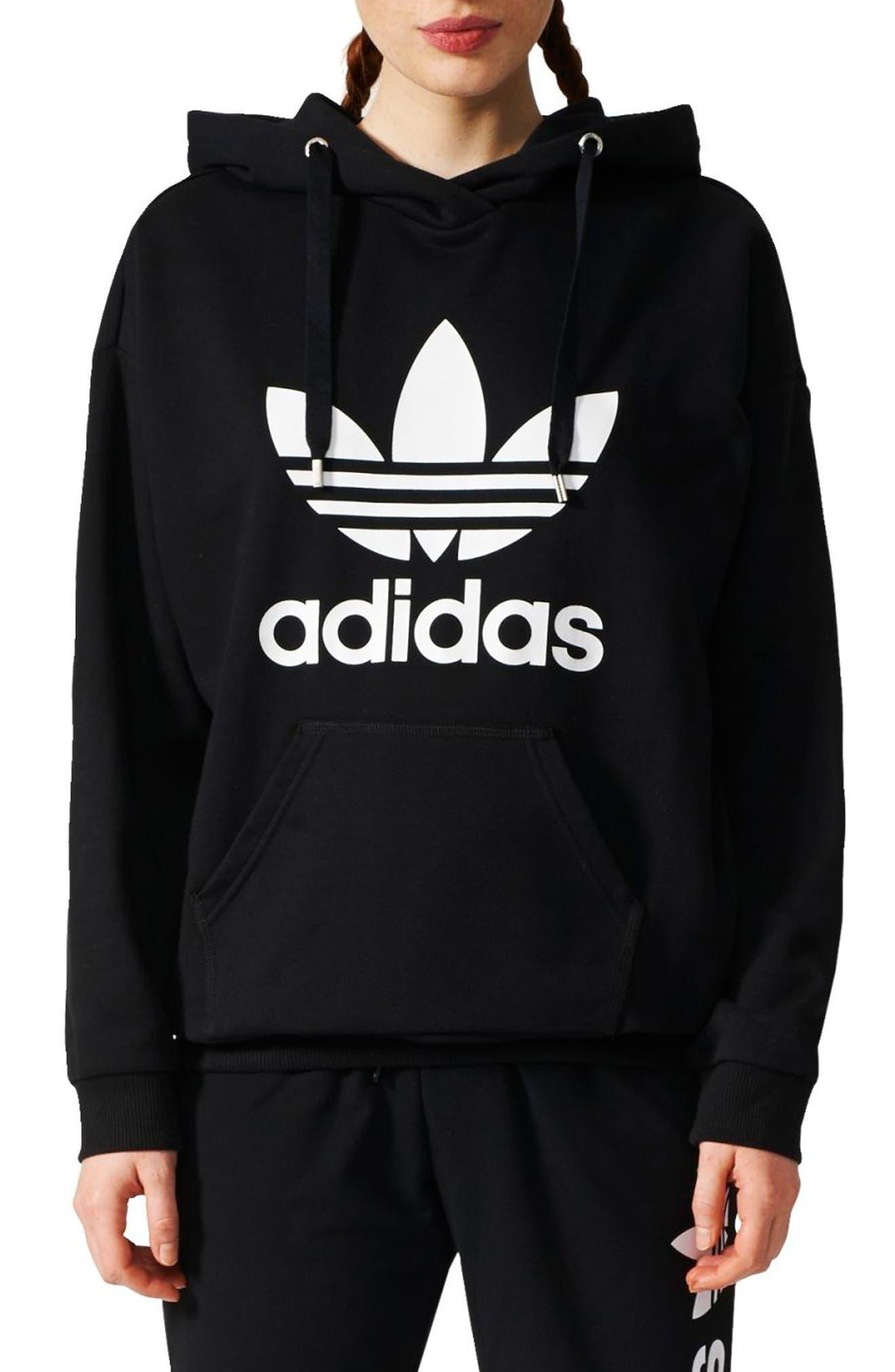 Originals Logo Hoodie,                         Main,                         color, Black