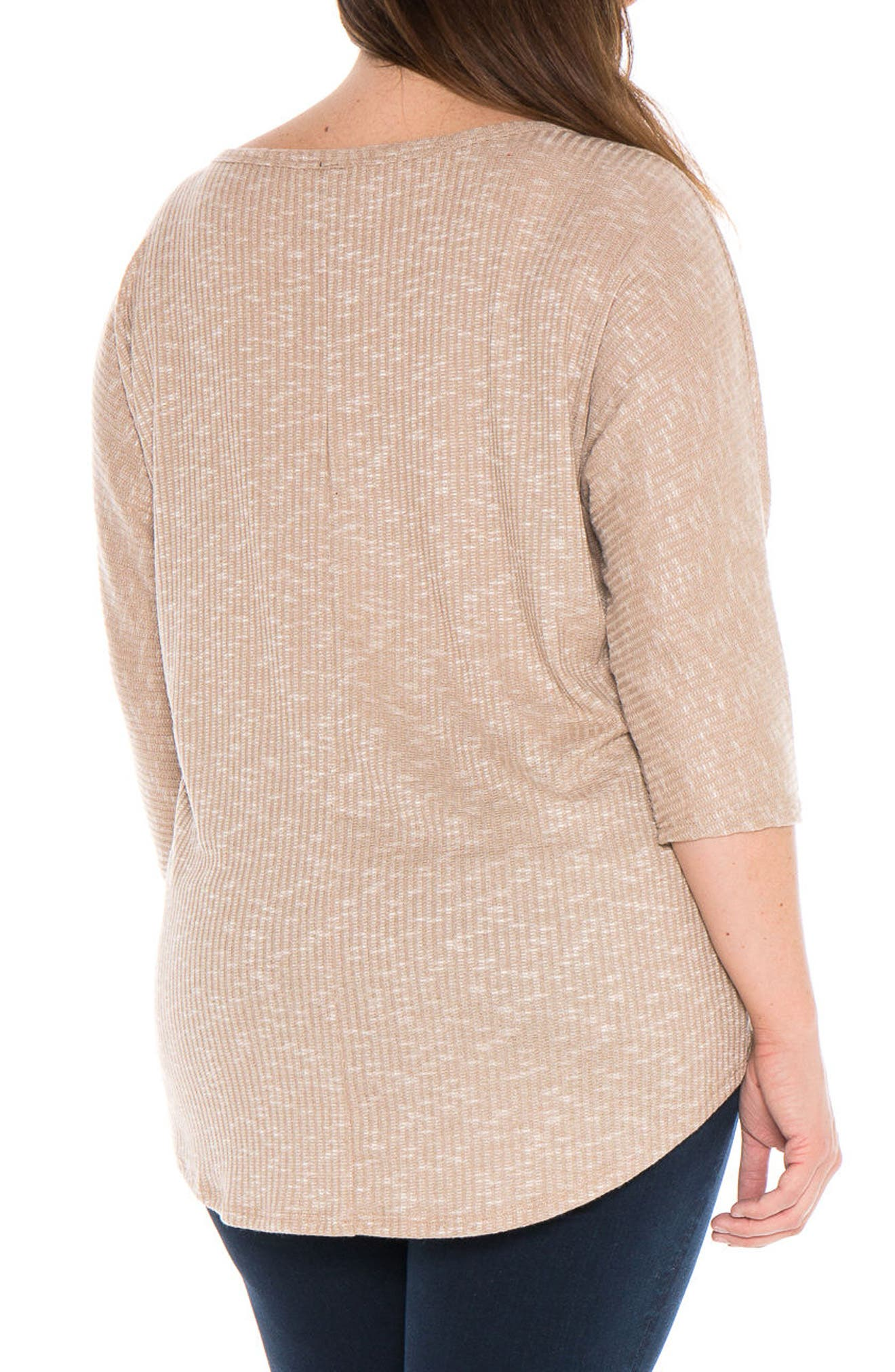 Alternate Image 2  - SLINK Jeans Marble Knit Dolman Top (Plus Size)