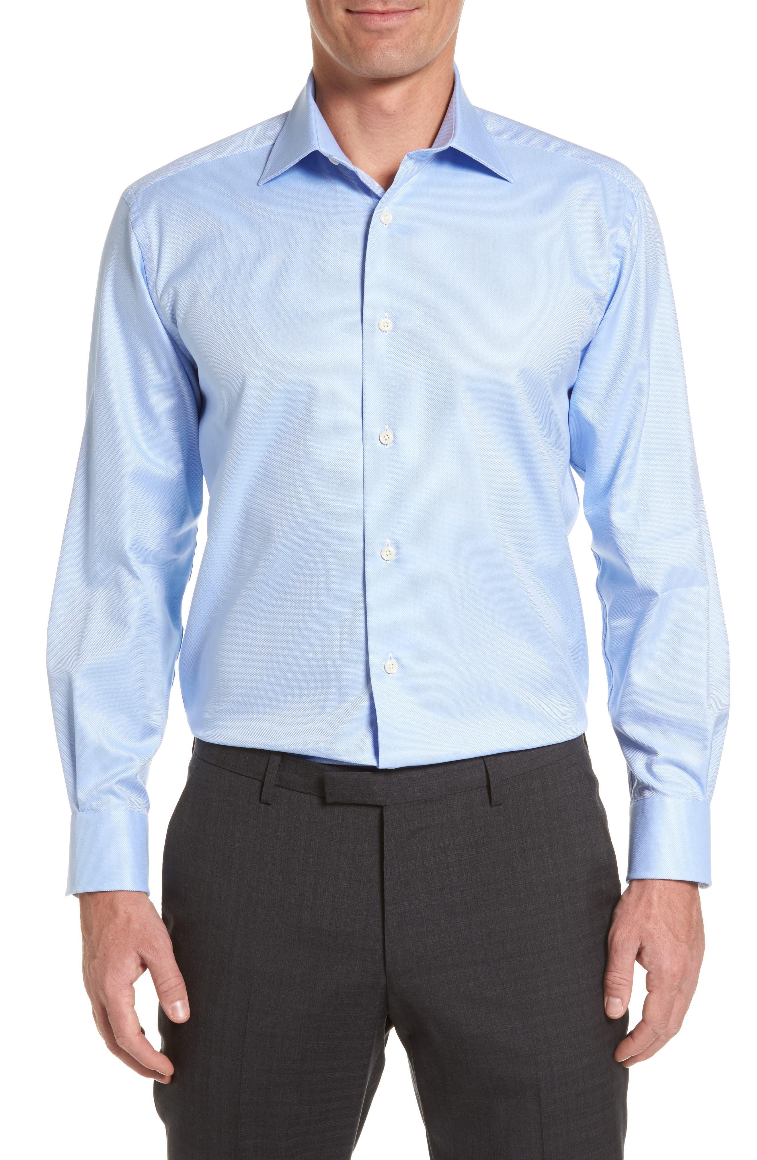 David Donahue Regular Fit Oxford Dress Shirt