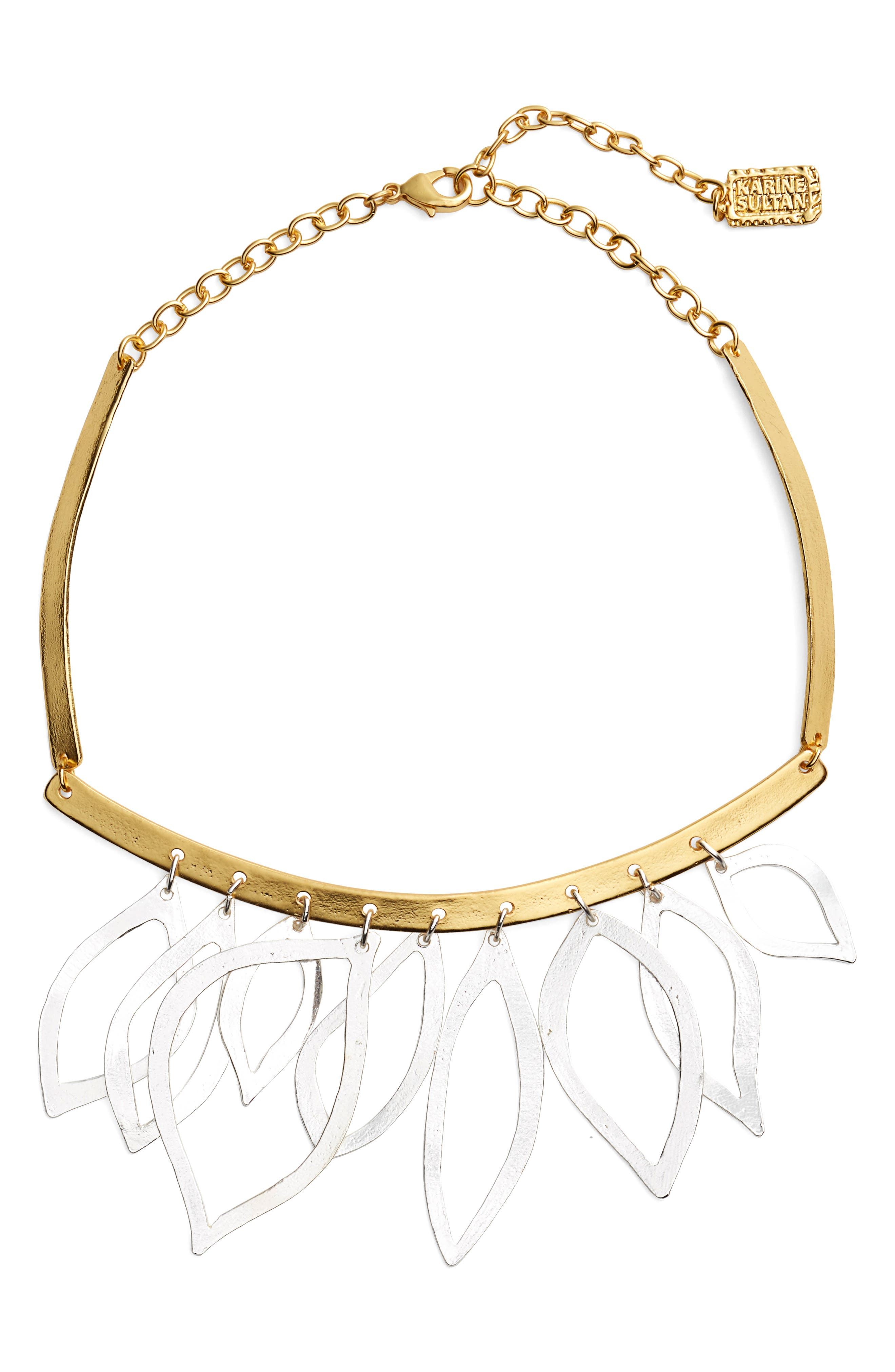 Main Image - Karine Sultan Two-Tone Frontal Necklace
