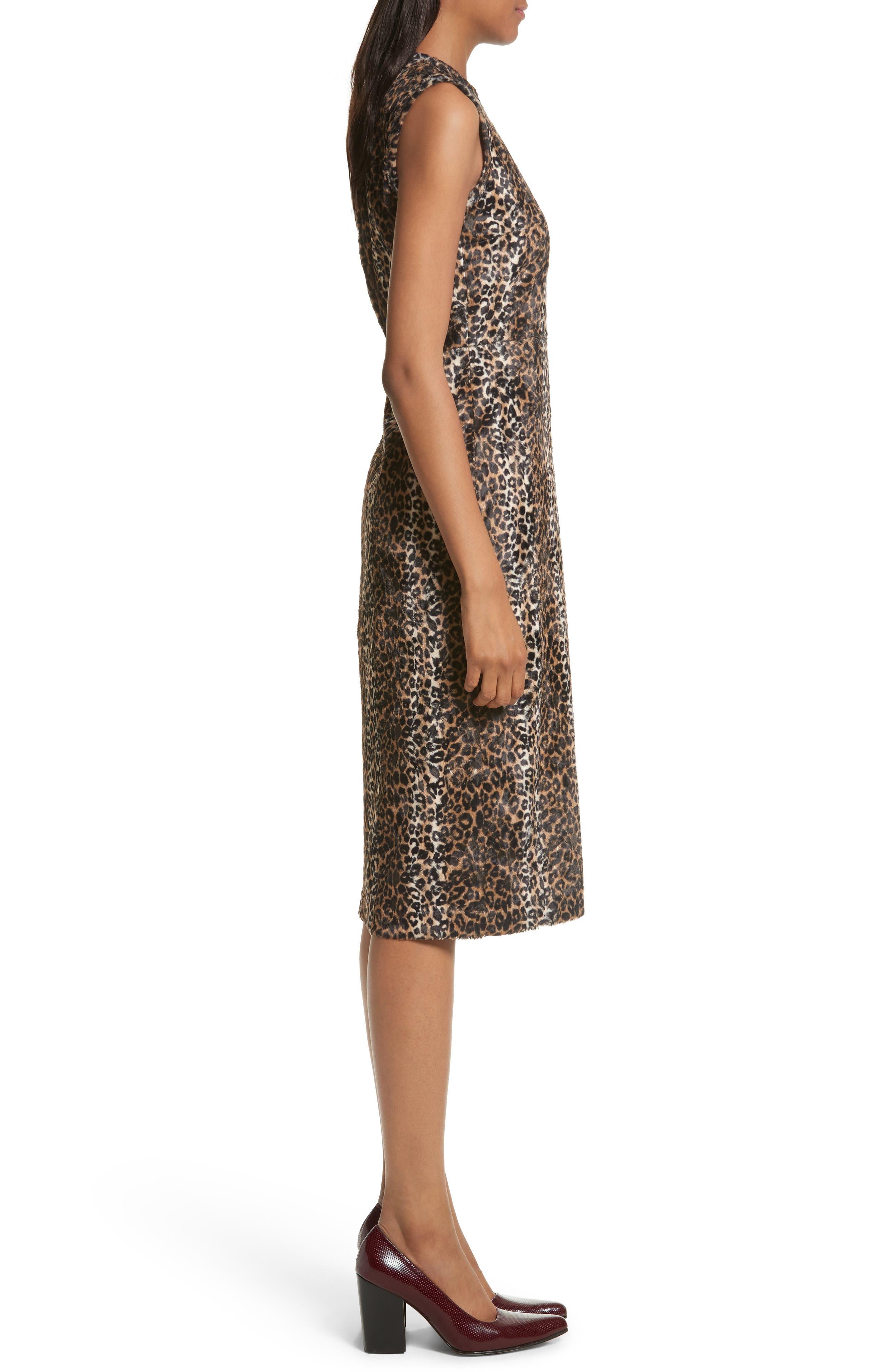 Alternate Image 3  - Rachel Comey Sling Cheetah Faux Fur Sheath Dress