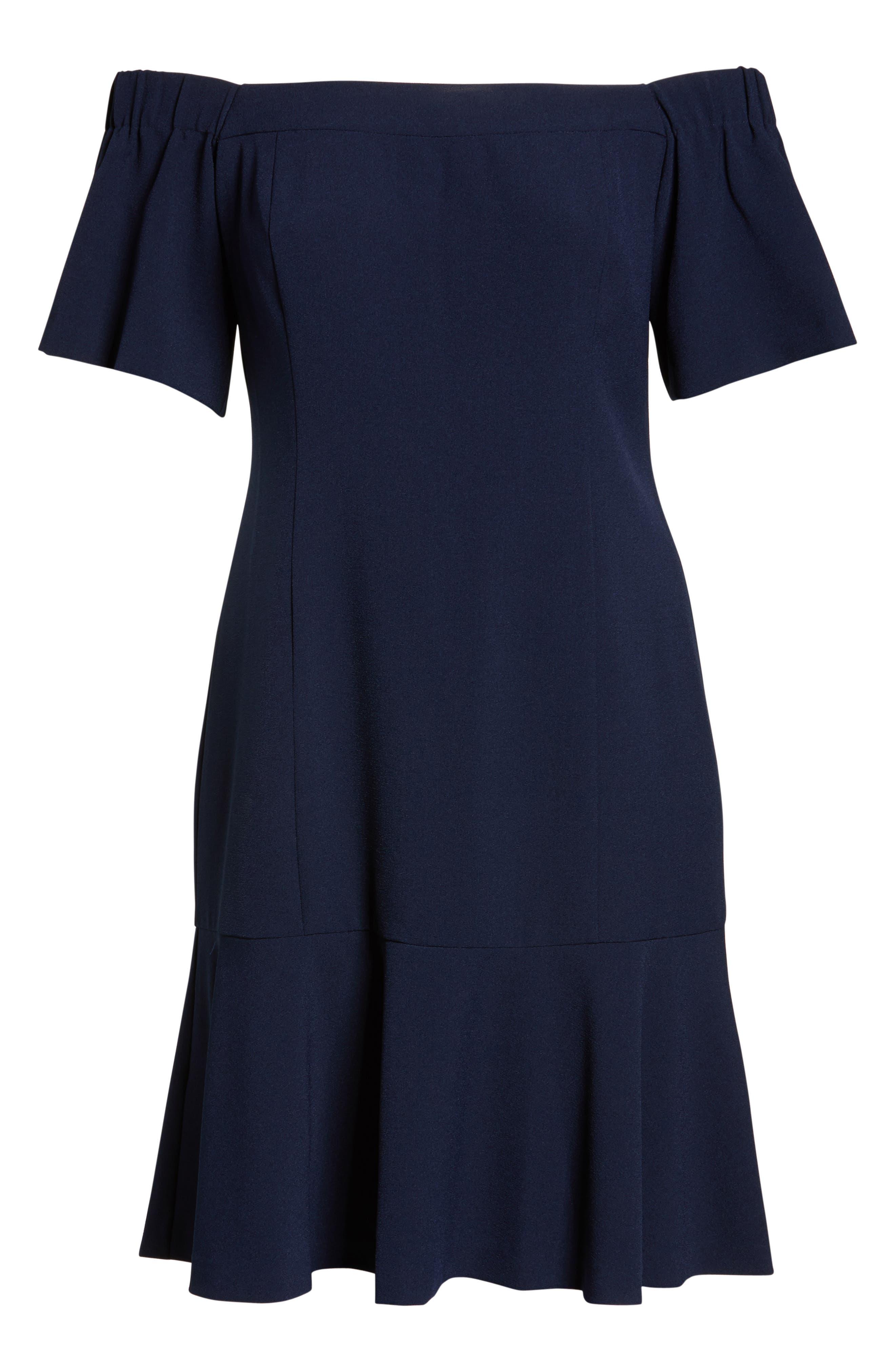 Alternate Image 6  - Vince Camuto Crepe Off the Shoulder Dress (Plus Size)