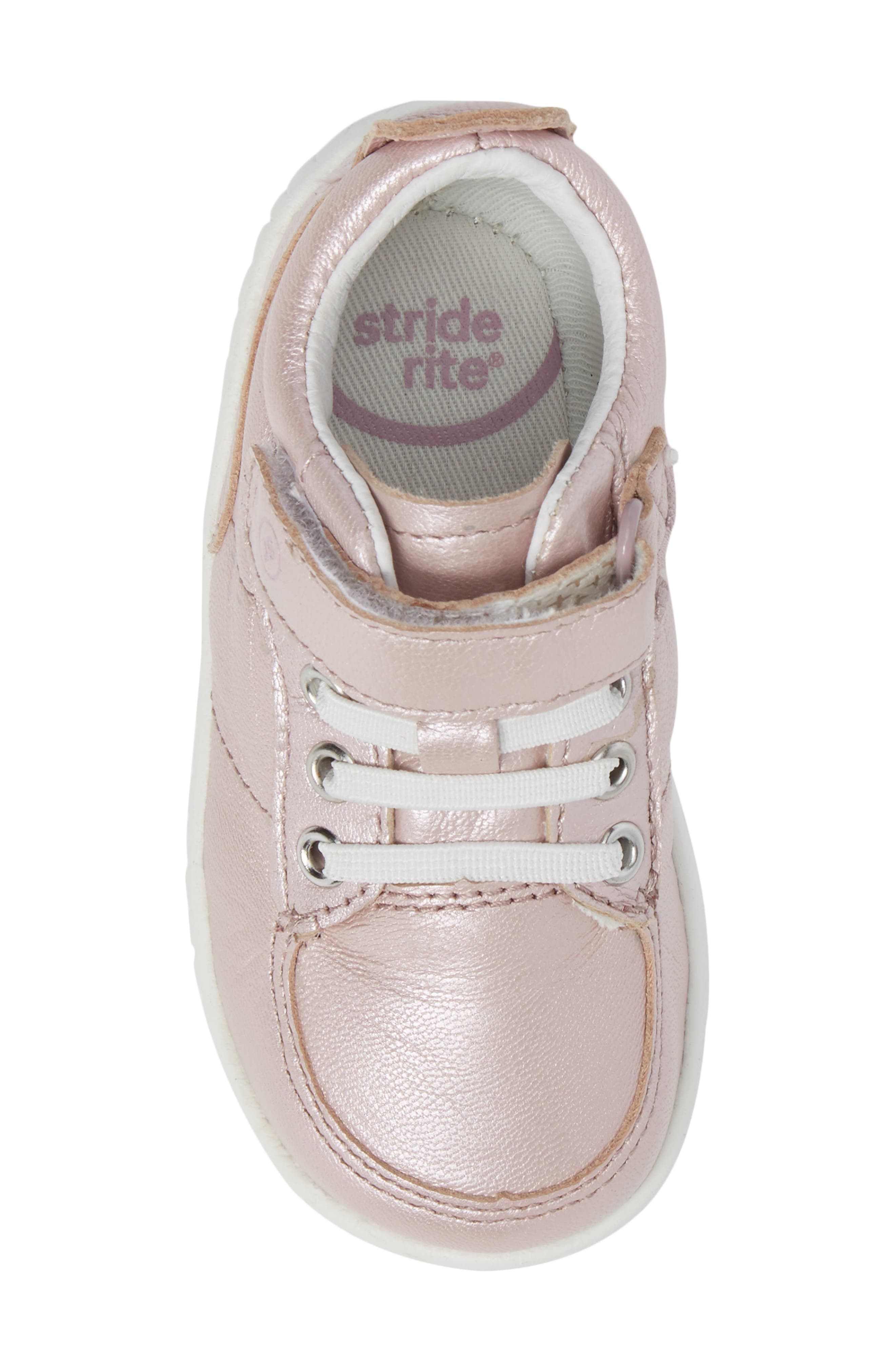Bailey High Top Sneaker,                             Alternate thumbnail 5, color,                             Pink Metallic