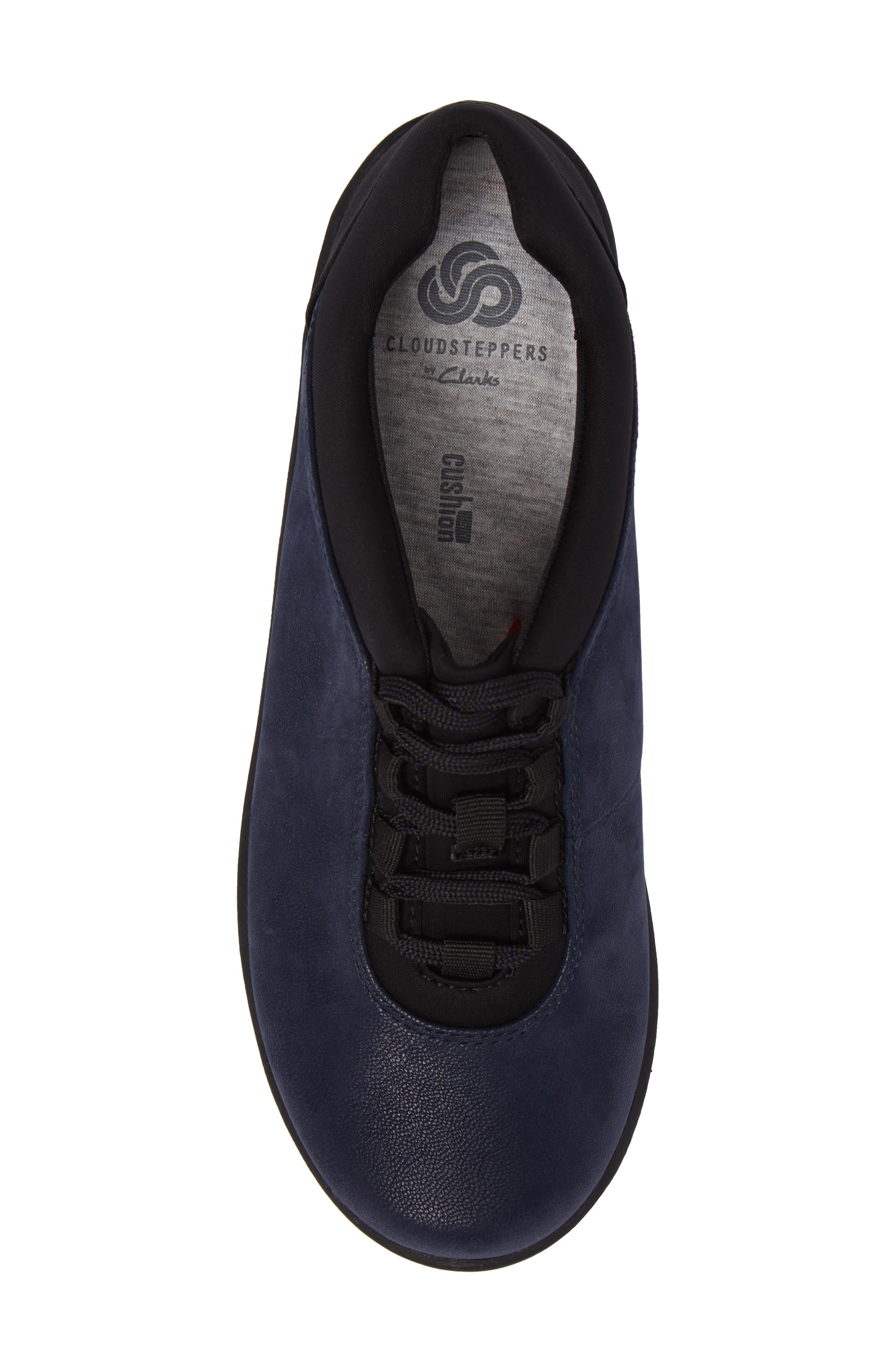 Sillian Pine Sneaker,                             Alternate thumbnail 5, color,                             Navy Canvas