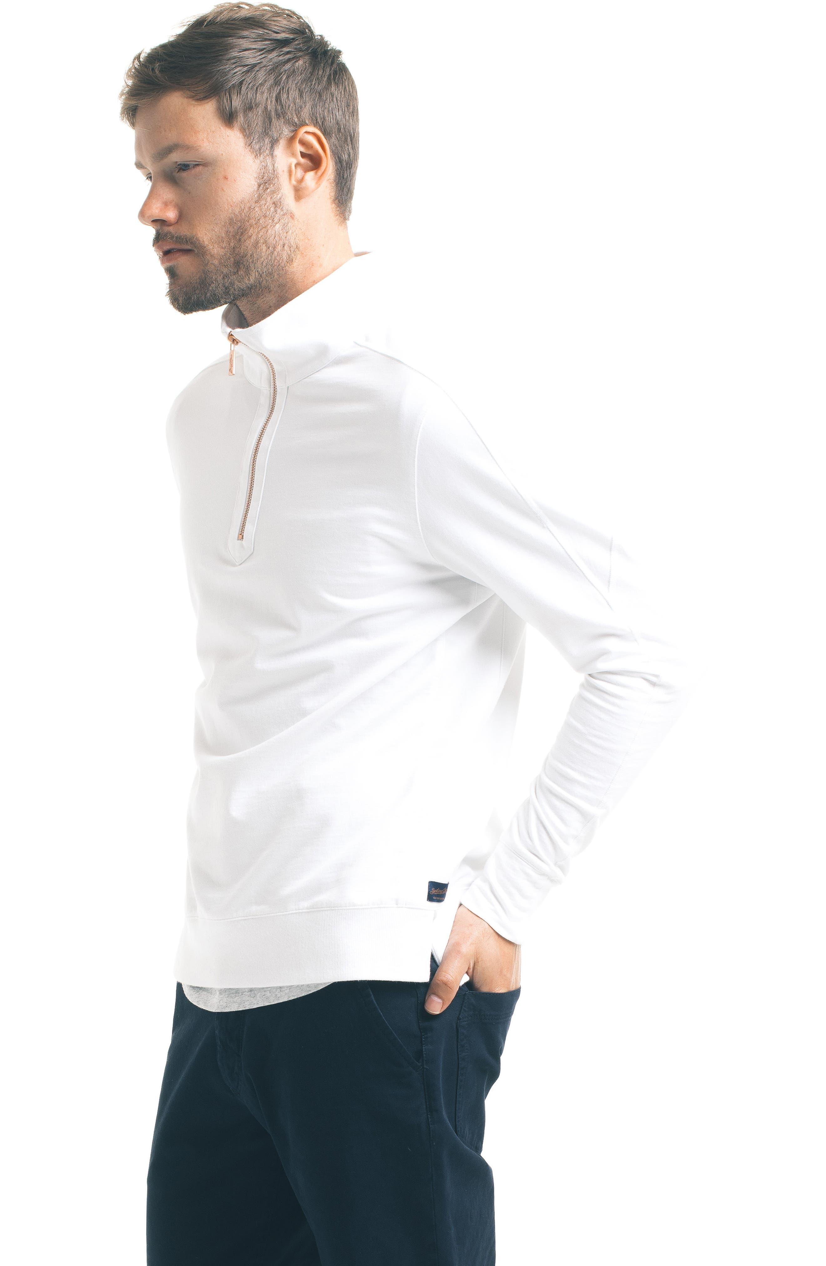 Slim Pro Quarter Zip Pullover,                             Alternate thumbnail 5, color,                             White
