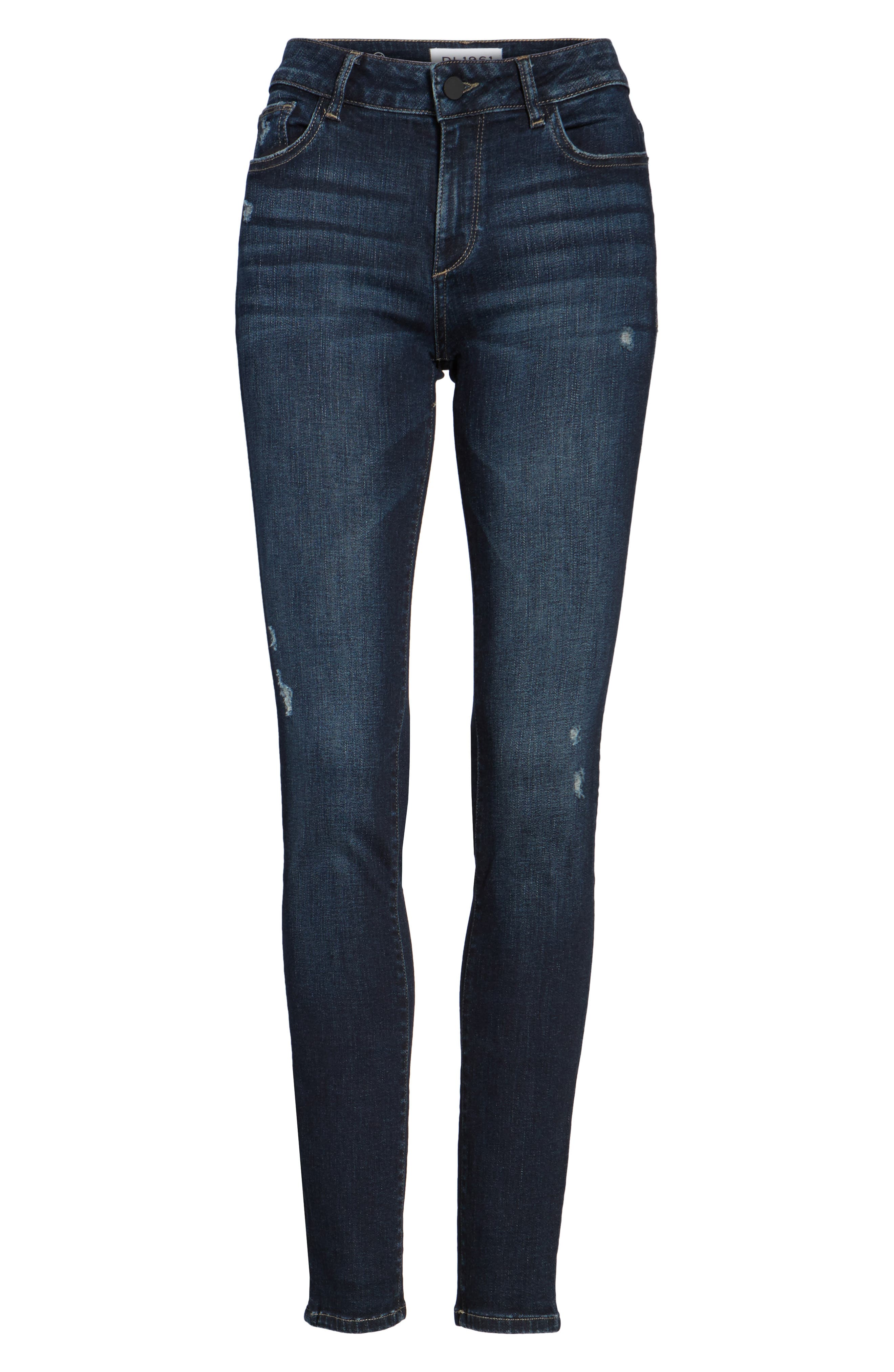 Florence Instasculpt Skinny Jeans,                             Alternate thumbnail 6, color,                             Darcy