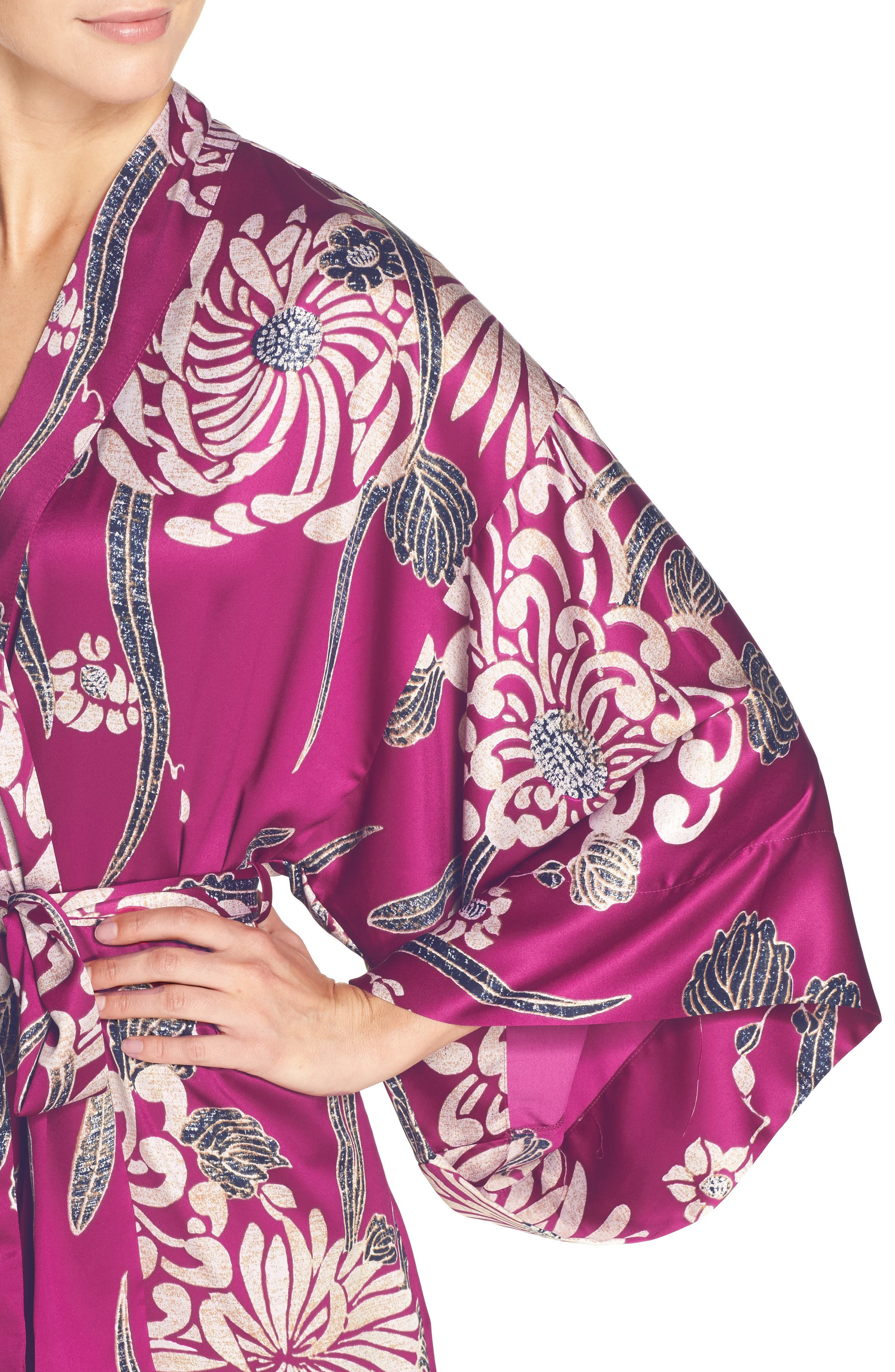 Alternate Image 4  - Natori Aizome Satin Robe