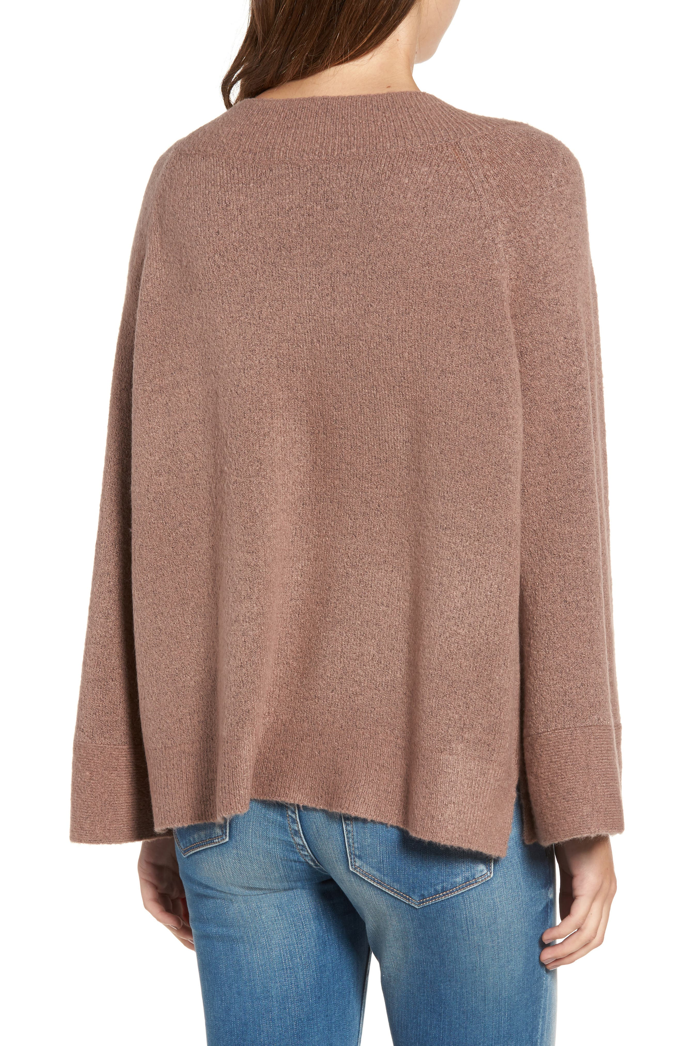 Bell Sleeve Sweater,                             Alternate thumbnail 2, color,                             Brown Taupe