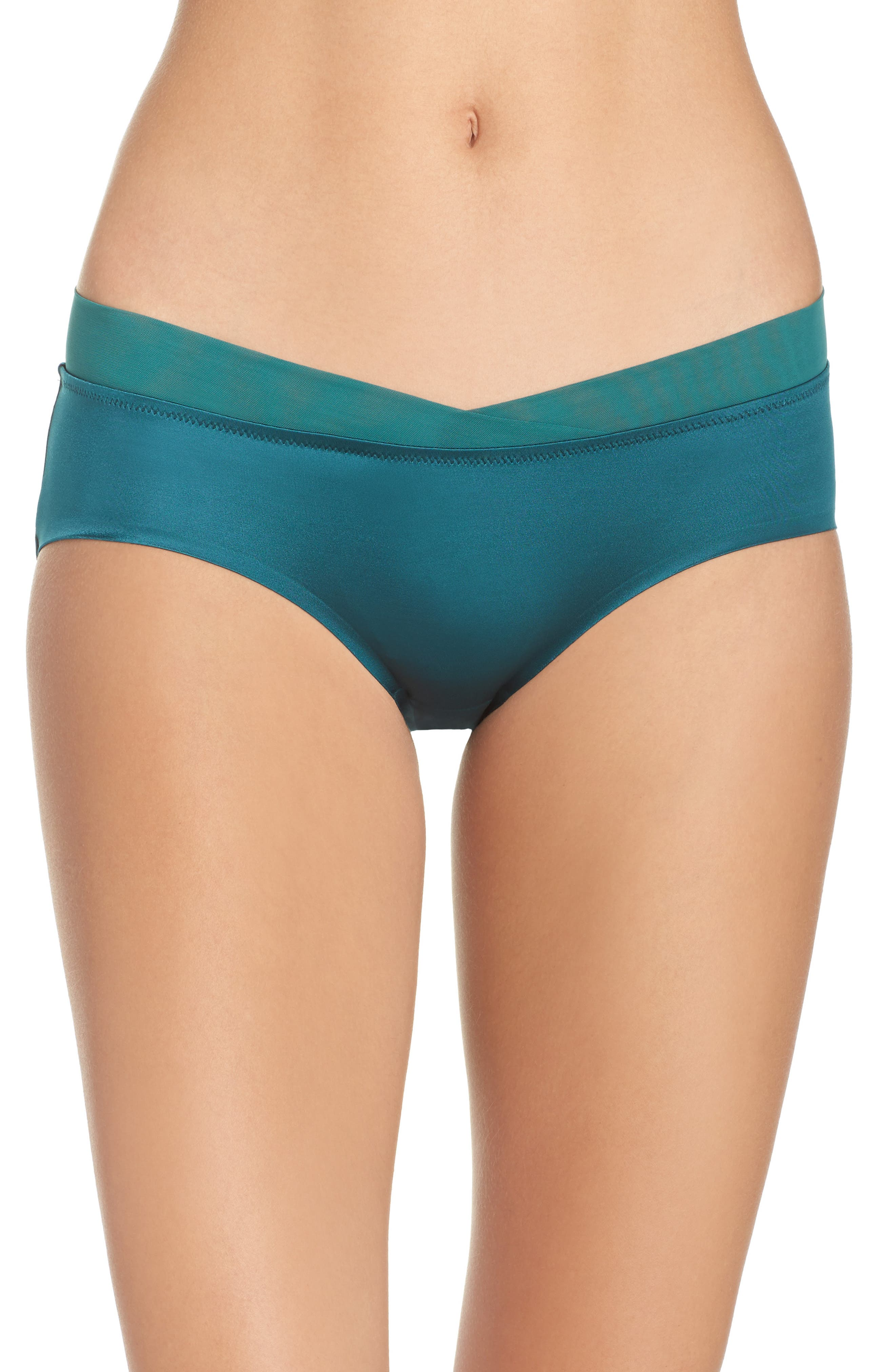 Crossfront Hipster Briefs,                             Main thumbnail 1, color,                             Deep Teal