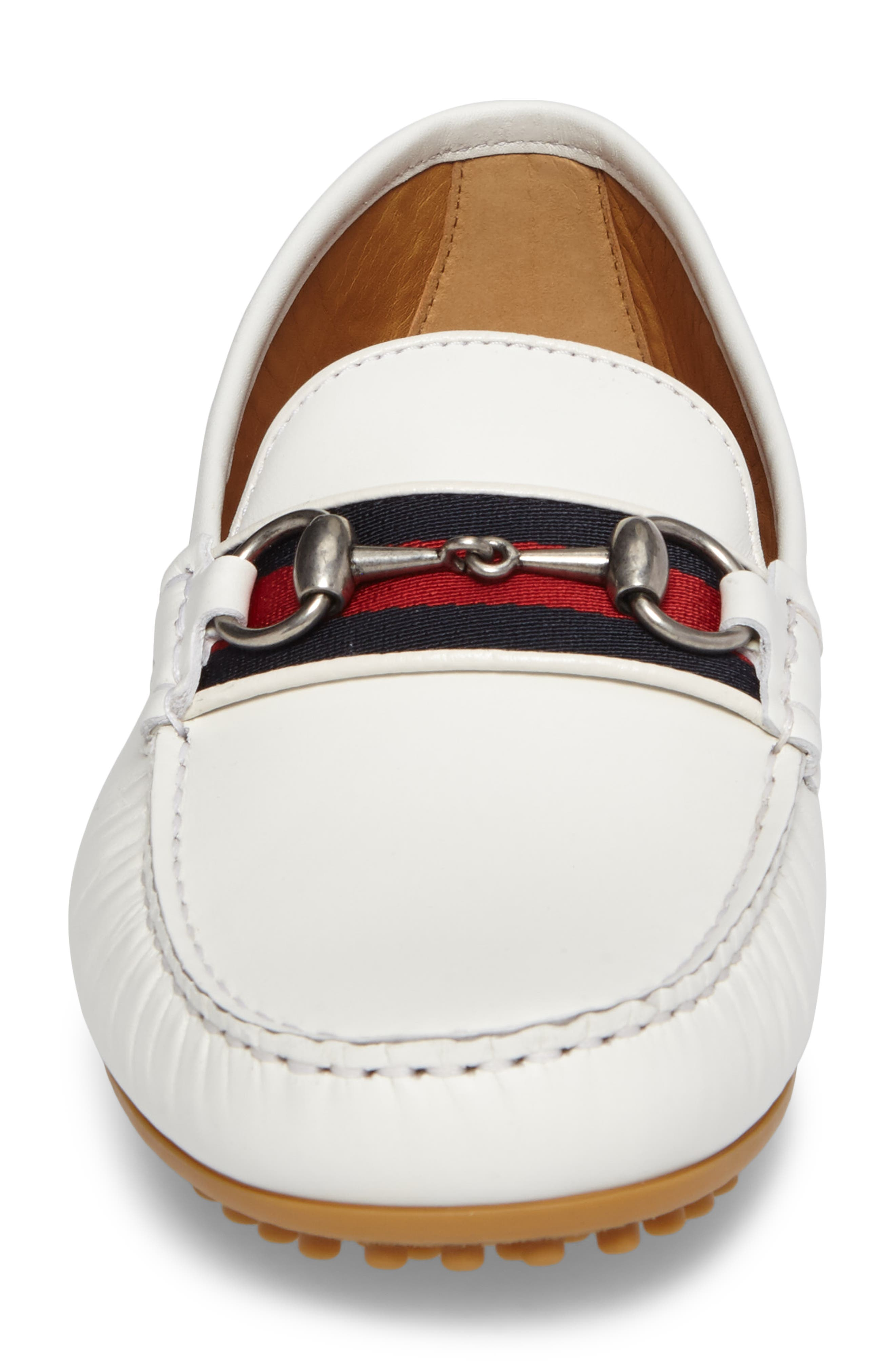 Kanye Bit Loafer,                             Alternate thumbnail 4, color,                             White Leather
