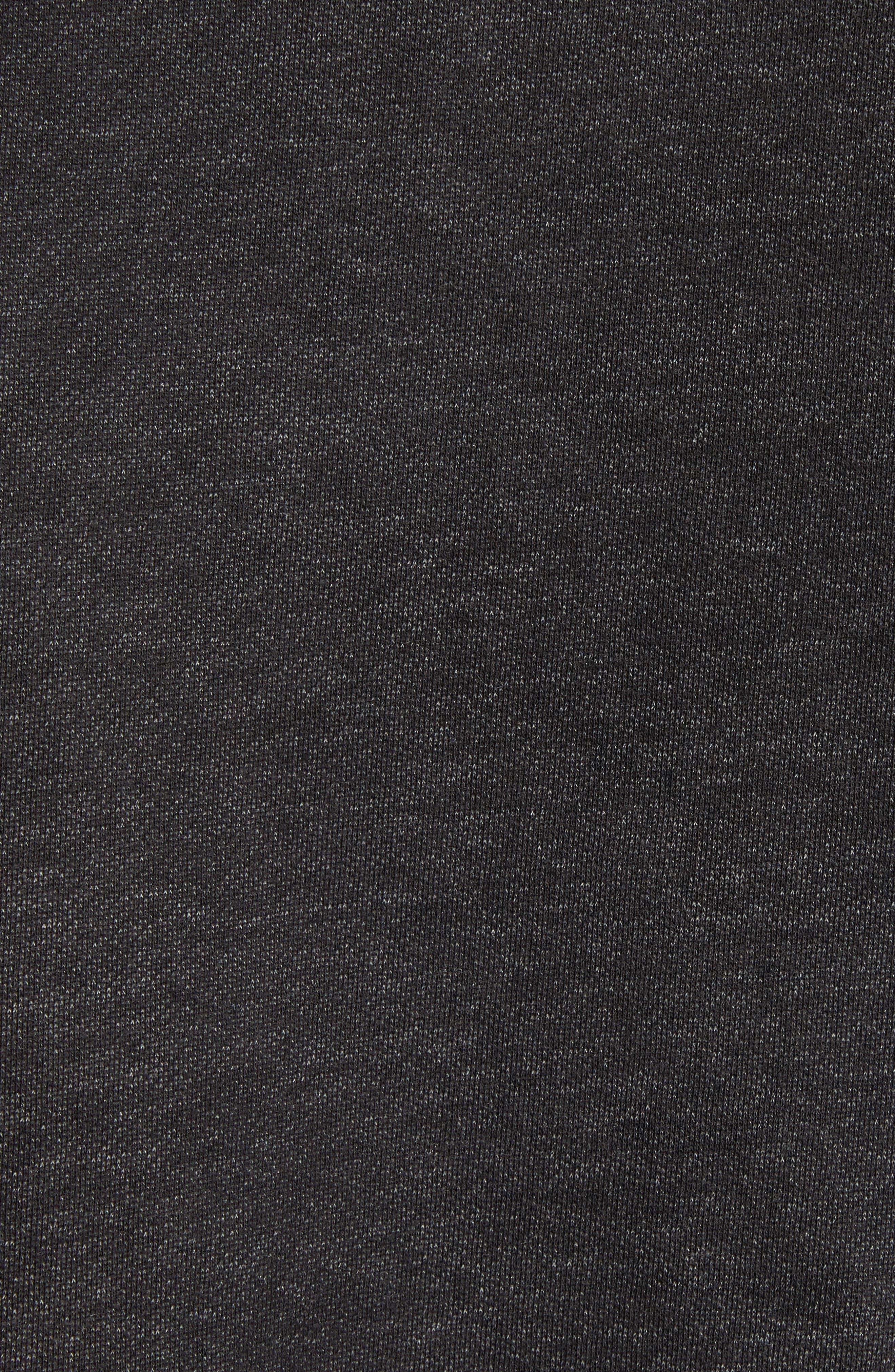 Oversize Pullover Hoodie,                             Alternate thumbnail 5, color,                             Acid Black