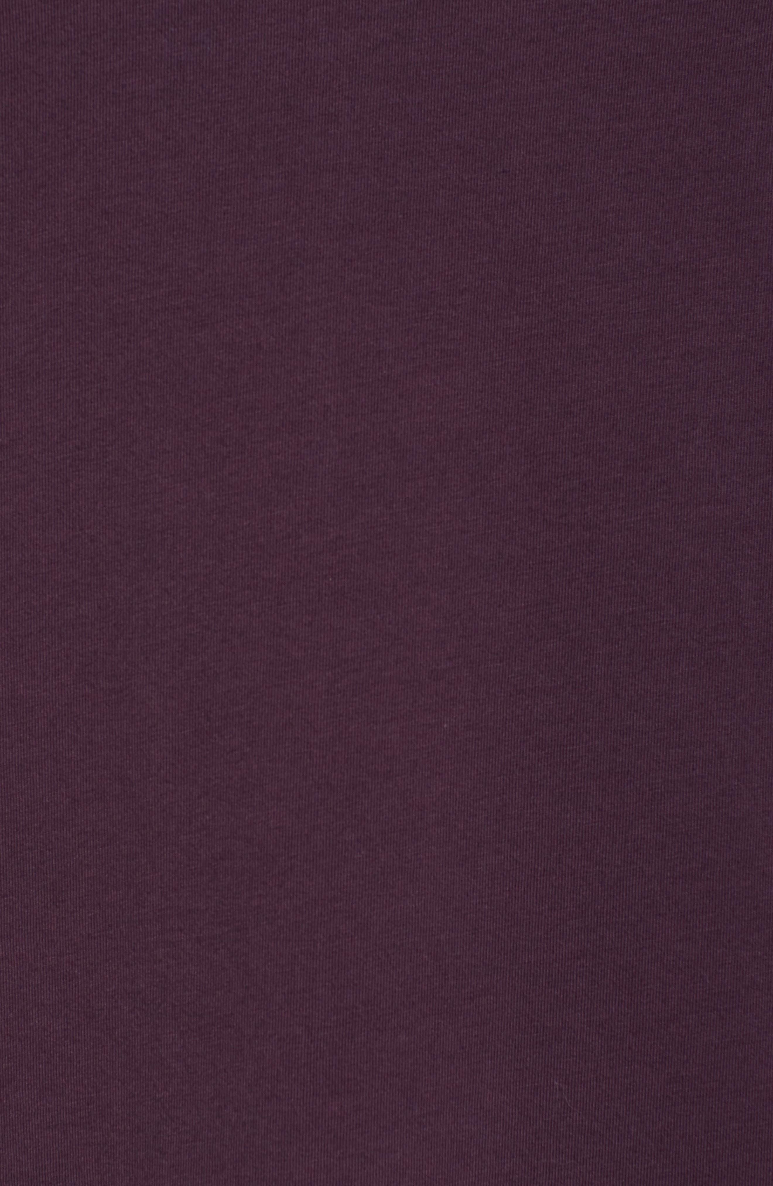 Ballet Neck Long Sleeve Tee,                             Alternate thumbnail 5, color,                             Purple Plum