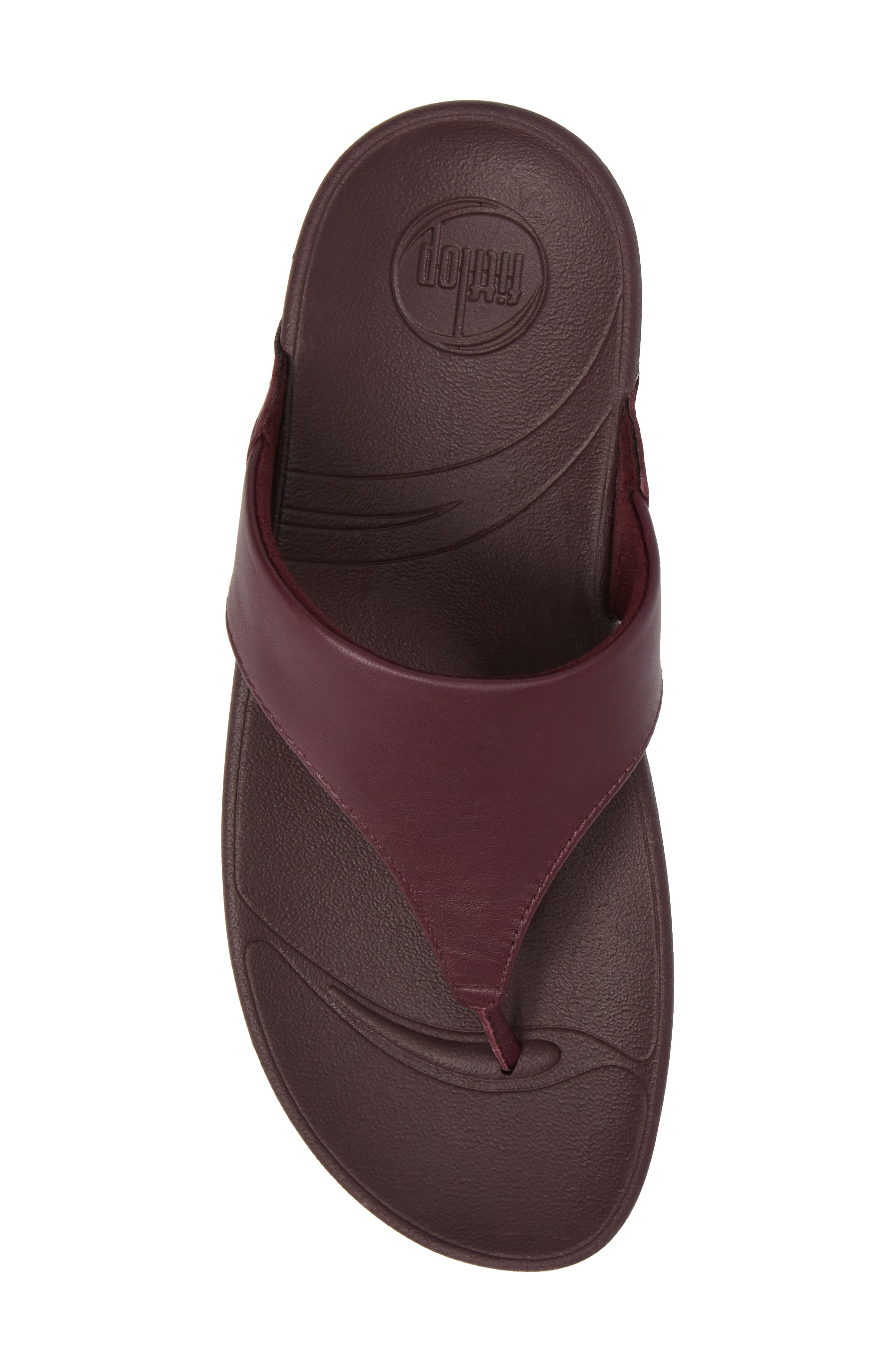 Lulu Sandal,                             Alternate thumbnail 5, color,                             Deep Plum Leather