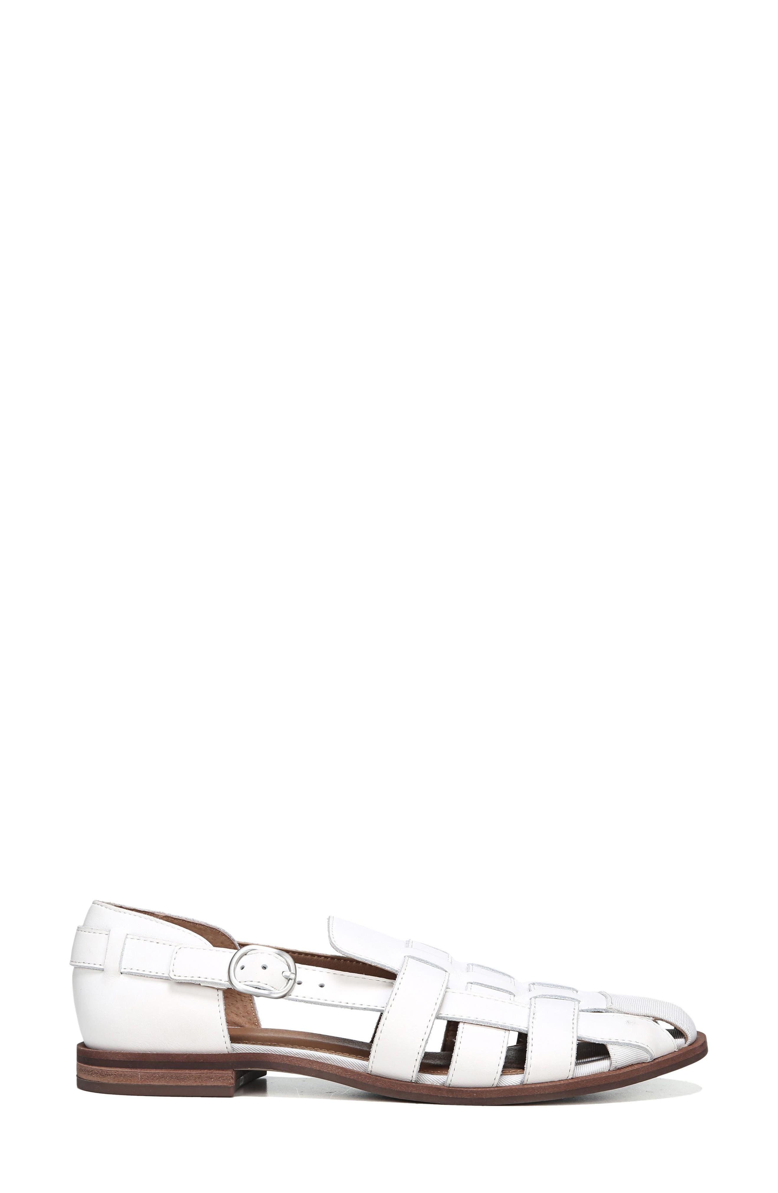 Lulu Fisherman Sandal,                             Alternate thumbnail 3, color,                             Bright White Leather