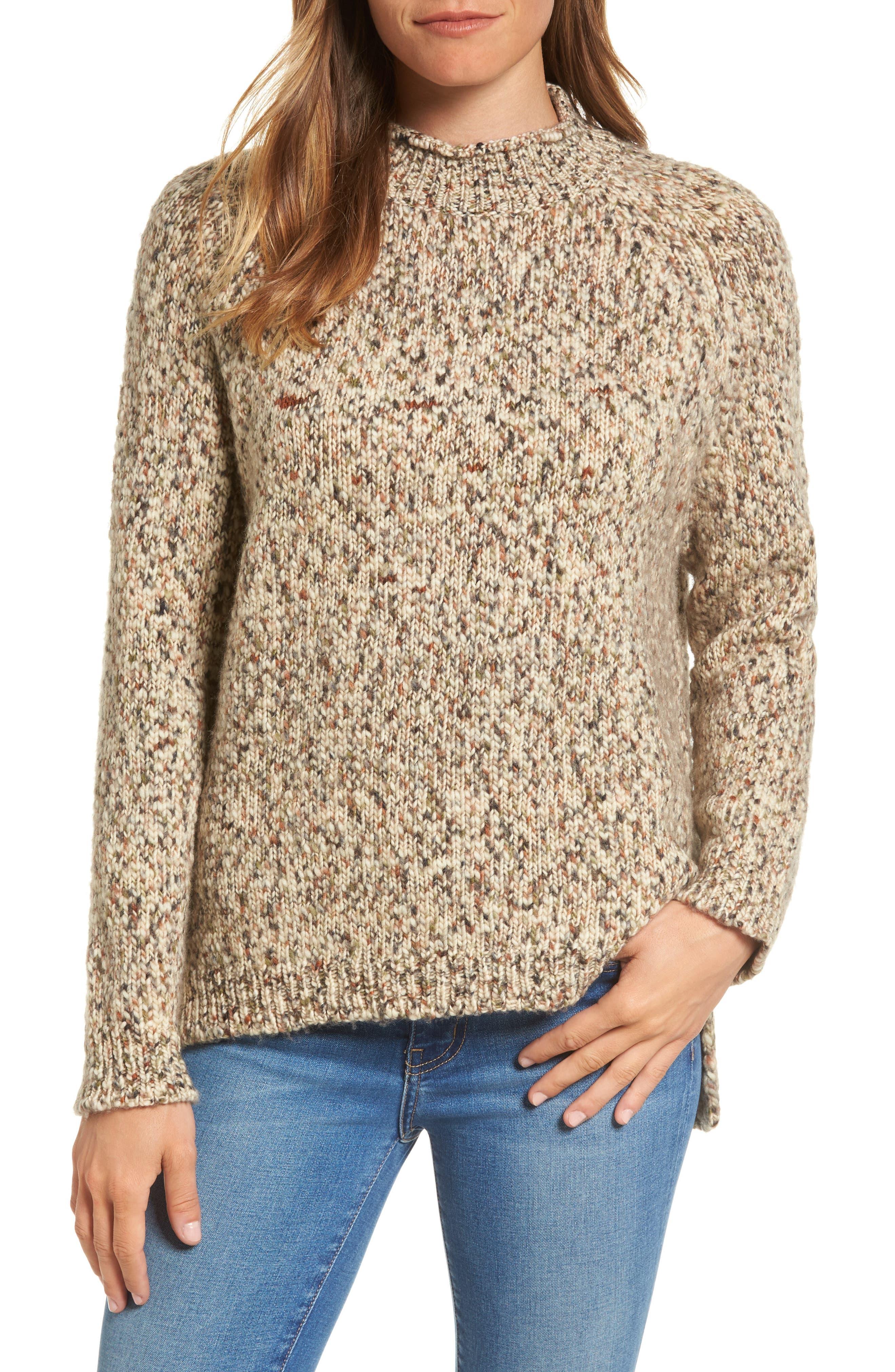 Jane Funnel Neck Wool Sweater,                         Main,                         color, Mist