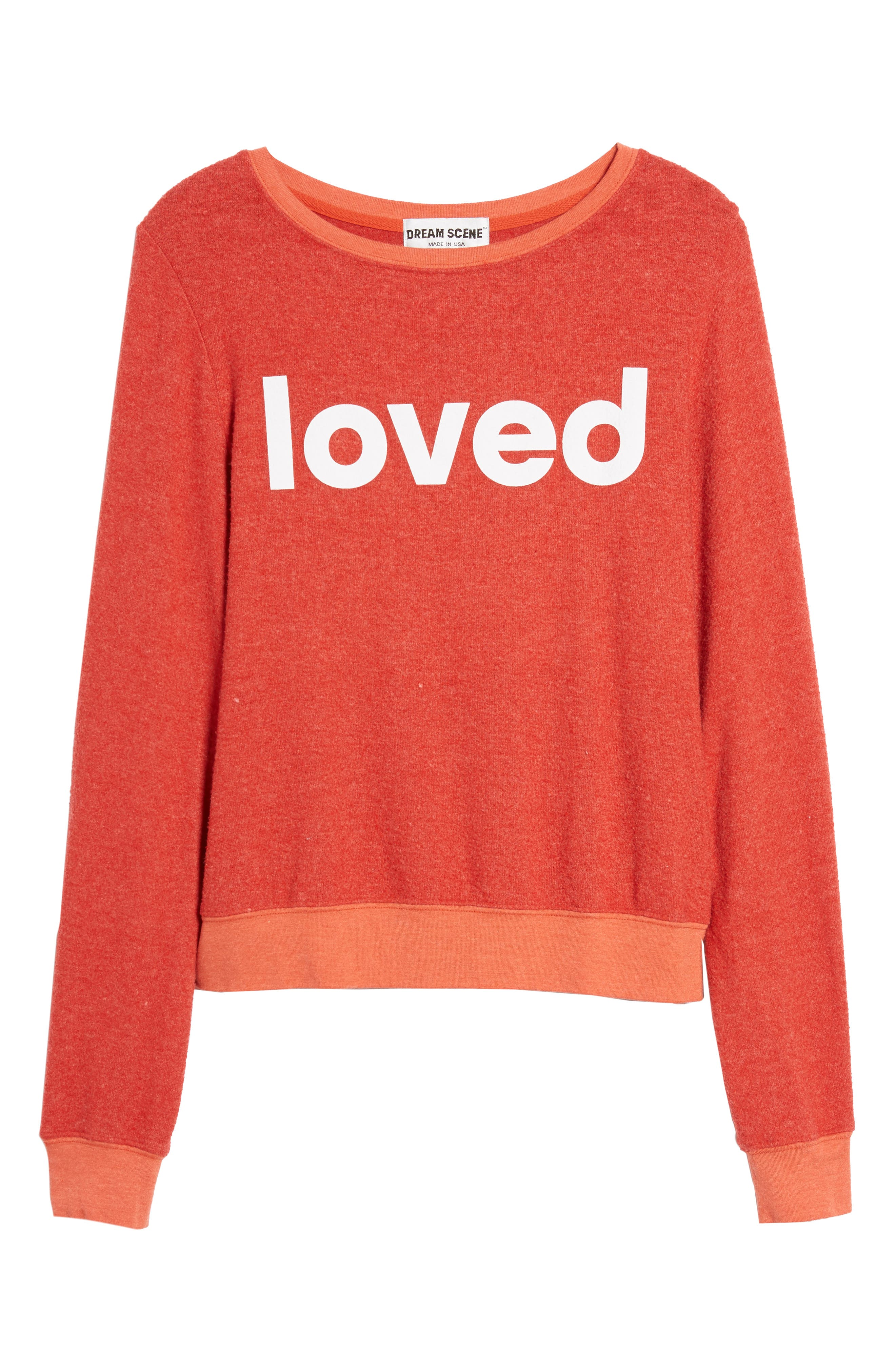 Alternate Image 7  - Dream Scene Loved Sweatshirt