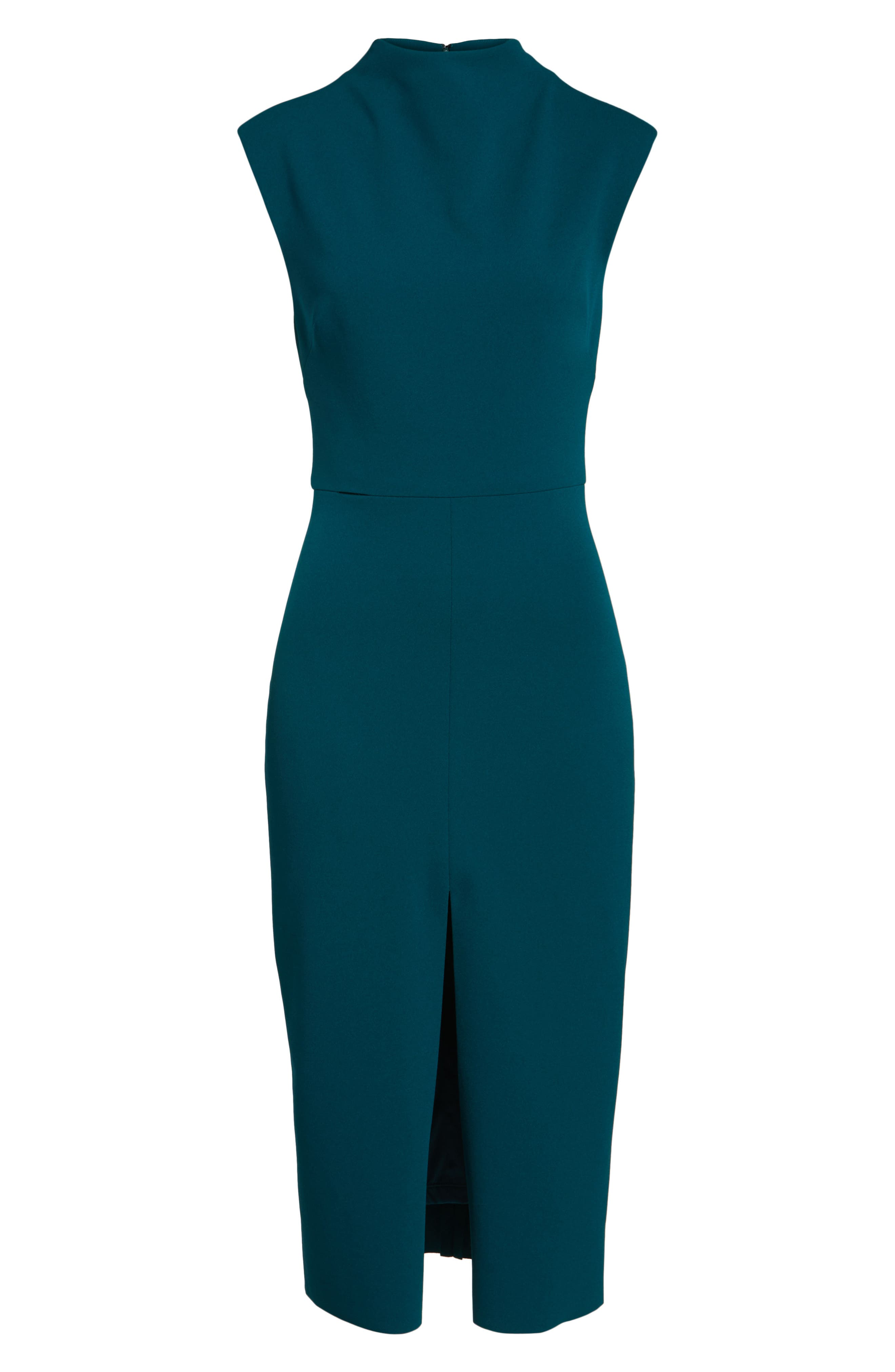 Crepe Midi Dress,                             Alternate thumbnail 7, color,                             Pine