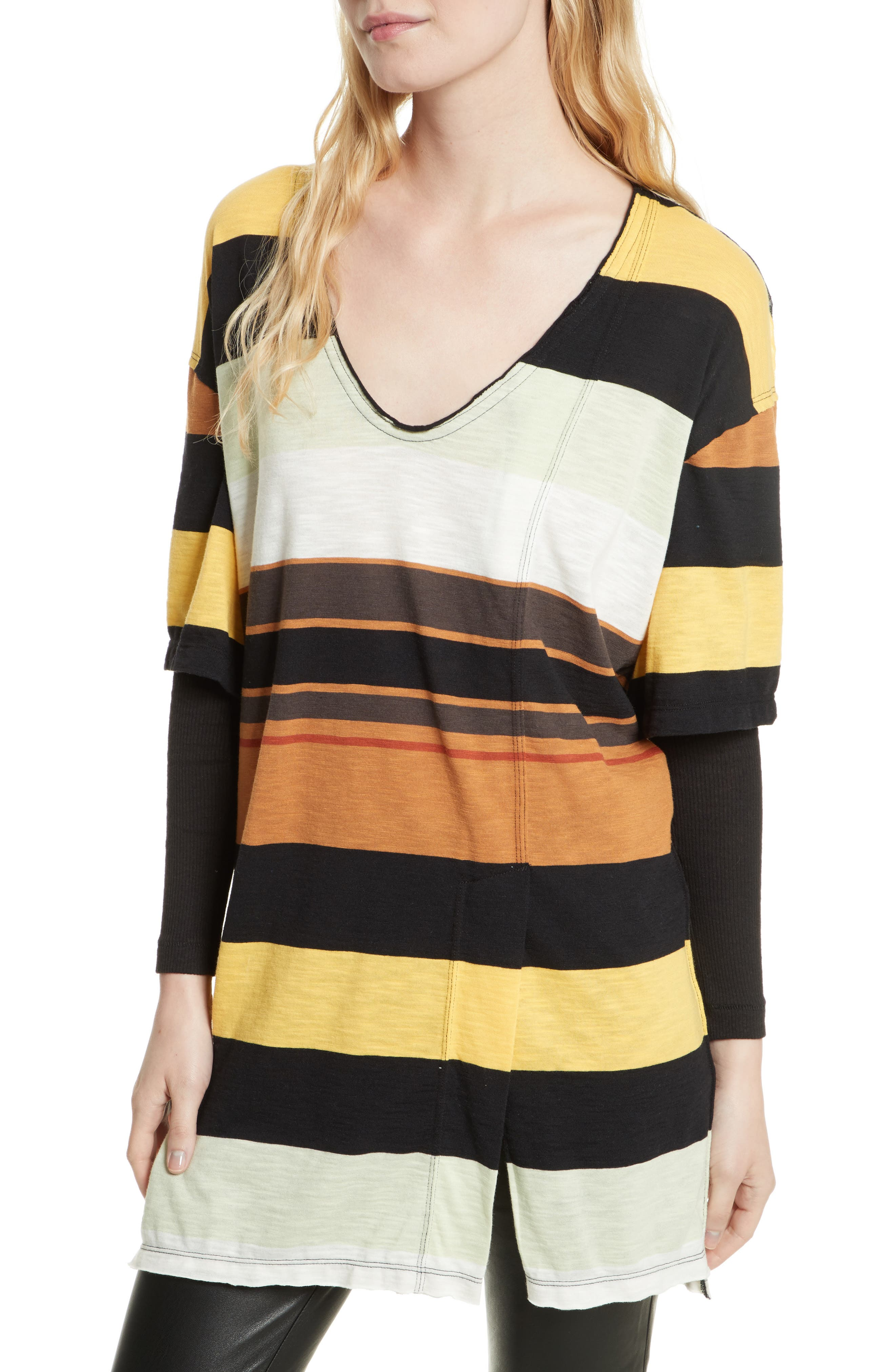 Kate Stripe Tunic,                         Main,                         color, Ivory