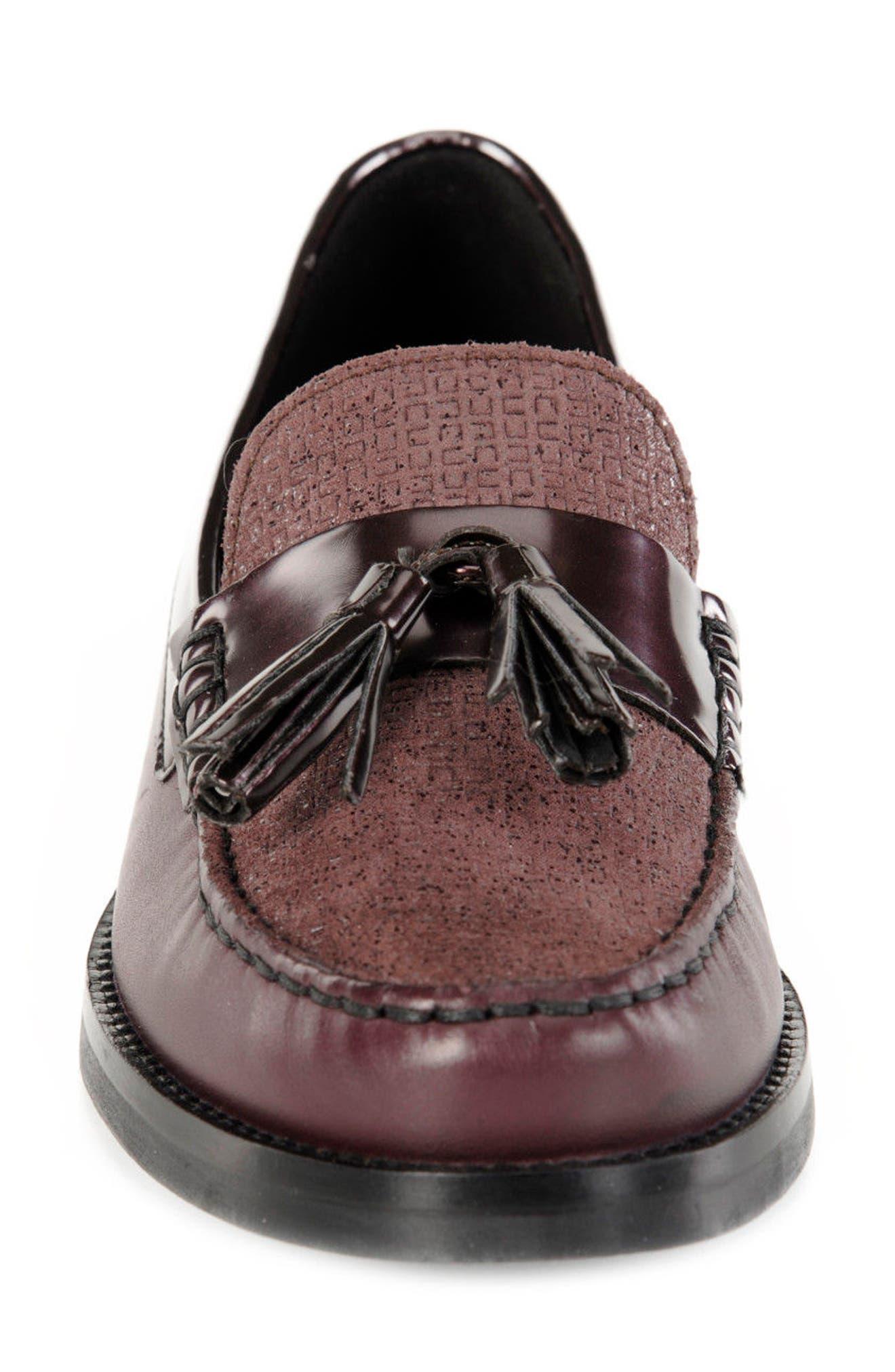 Promethea Loafer,                             Alternate thumbnail 5, color,                             Prune Leather