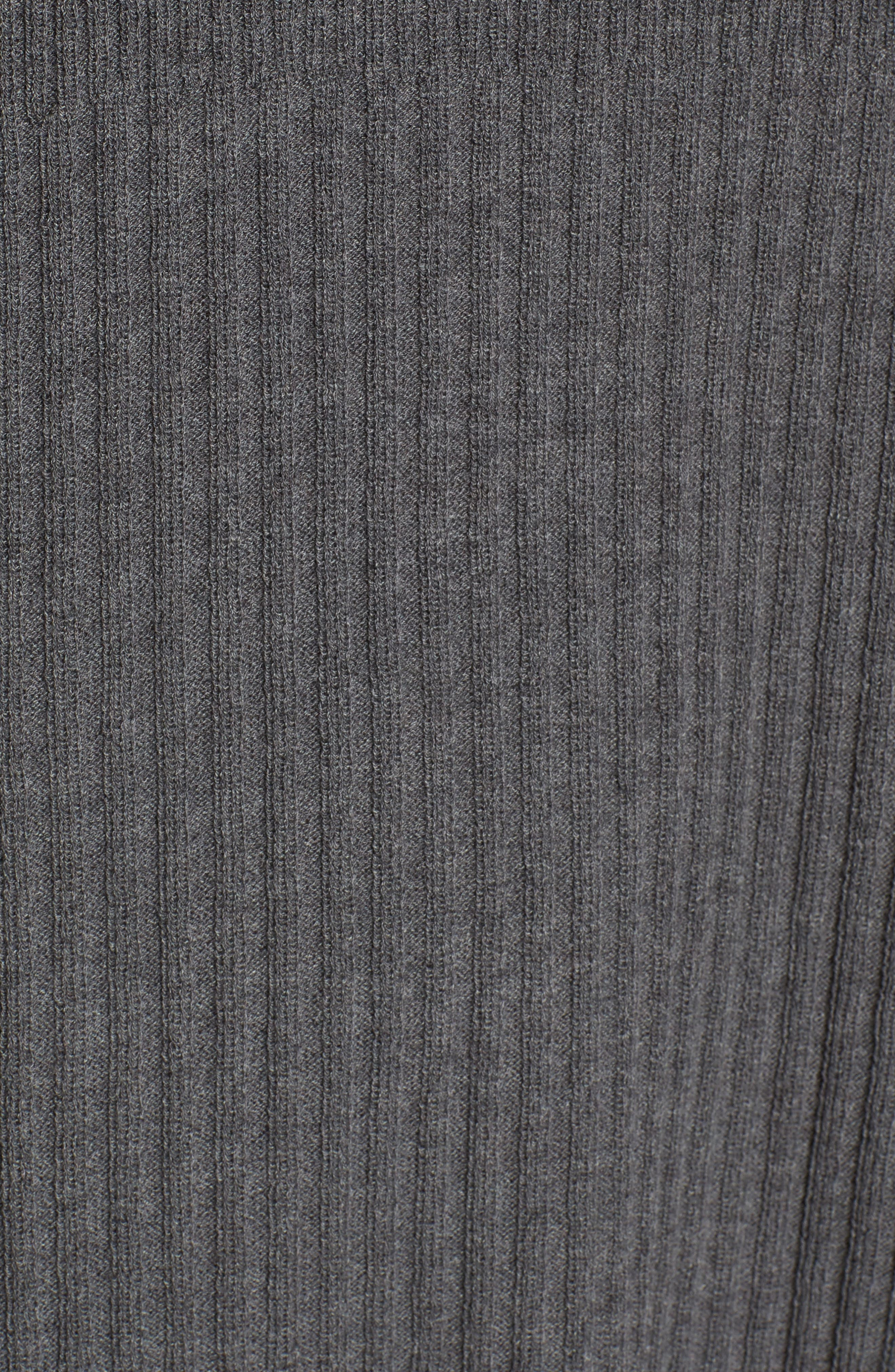 Ribbed Wool Sweater Dress,                             Alternate thumbnail 5, color,                             Bark