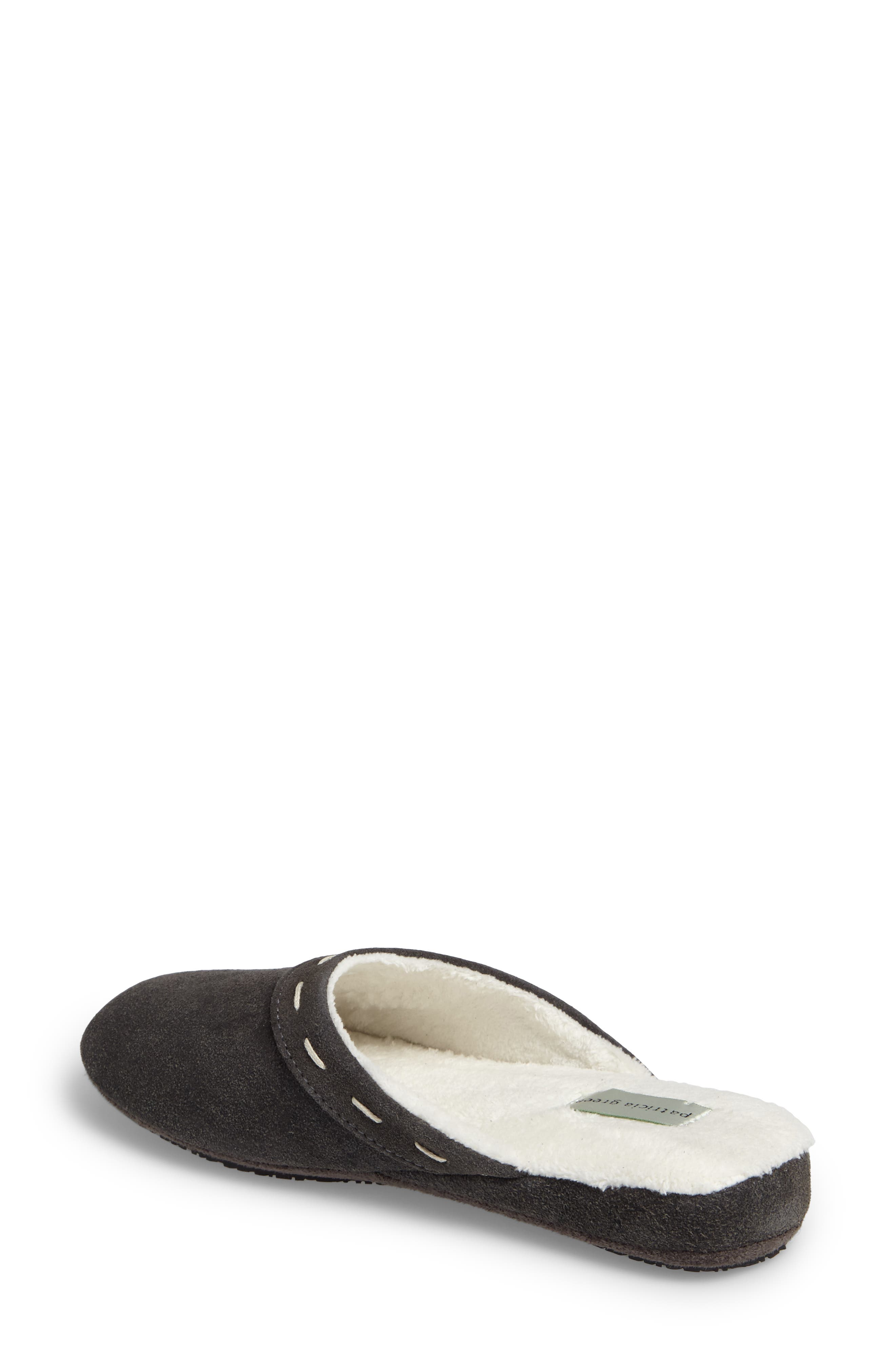 Mayfair Wedge Slipper,                             Alternate thumbnail 2, color,                             Charcoal Suede