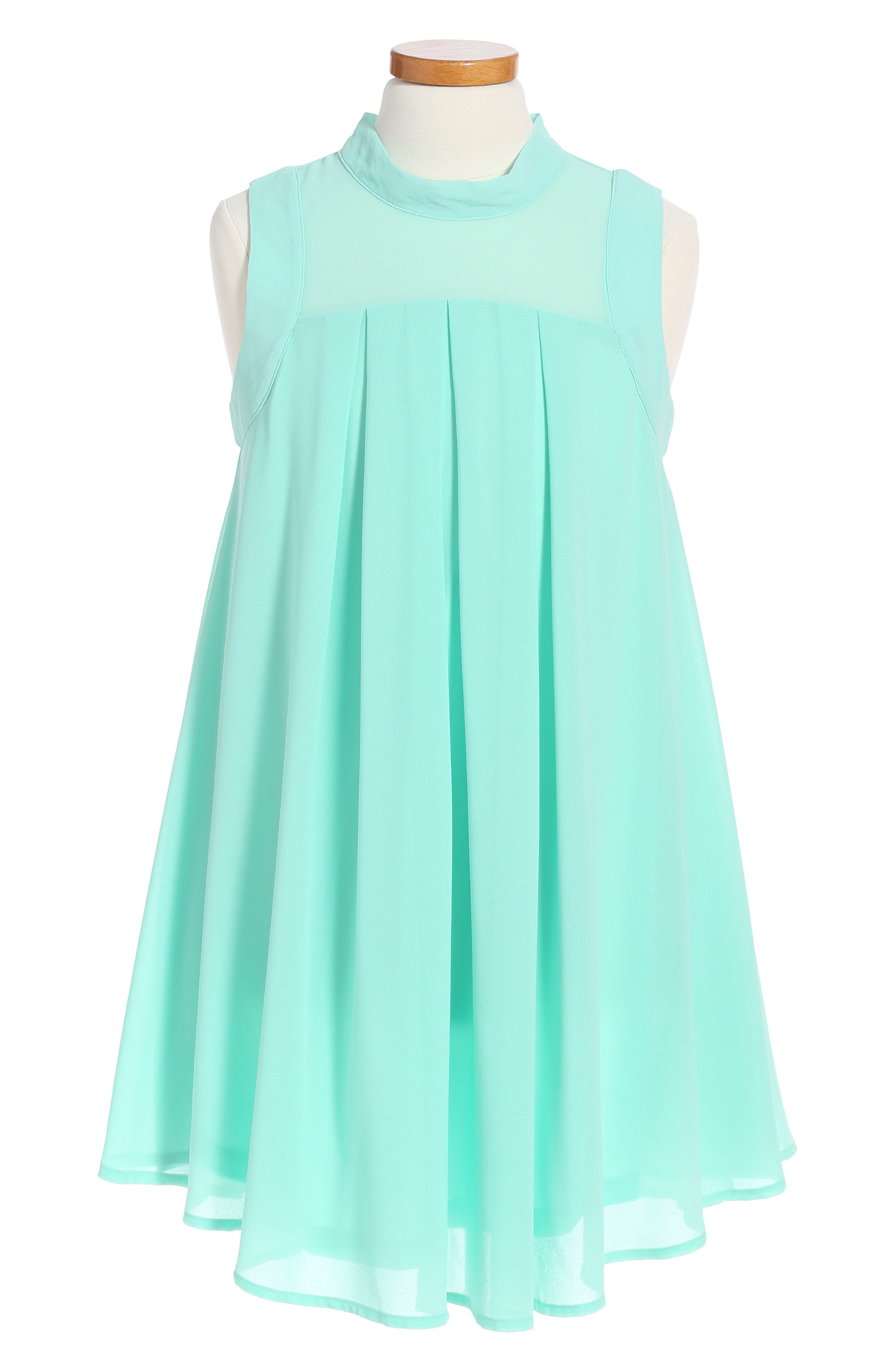 Miss Behave Jackie Illusion Yoke Chiffon Dress (Big Girls)