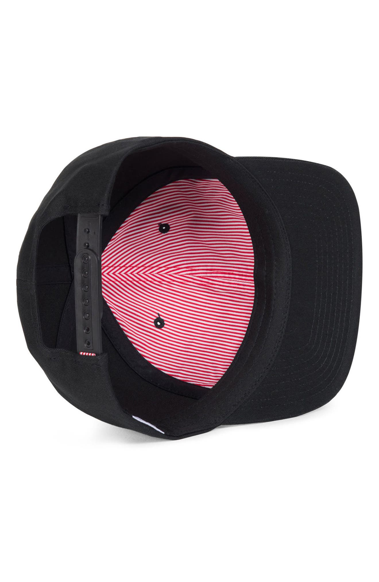 'Mosby' Snapback Baseball Cap,                             Alternate thumbnail 3, color,                             Black