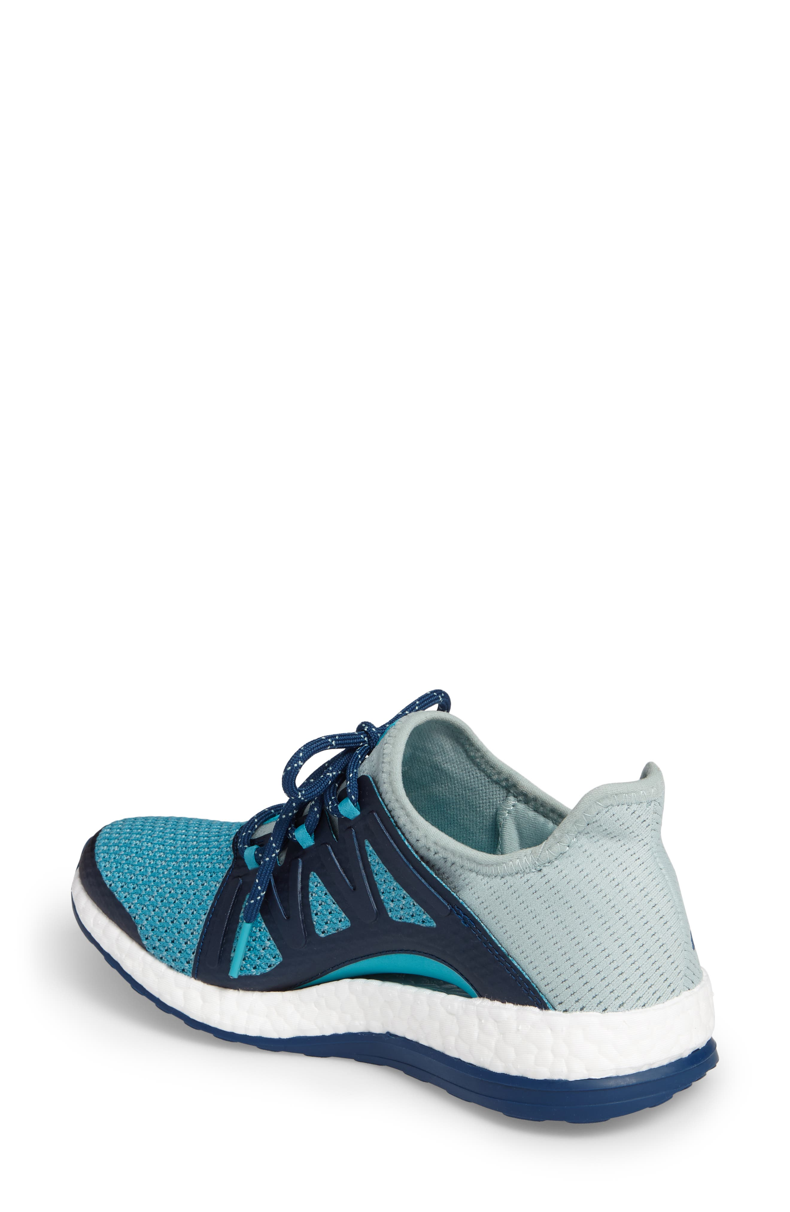 PureBOOST Xpose Running Shoe,                             Alternate thumbnail 6, color,                             Tactile Green/ Energy Blue