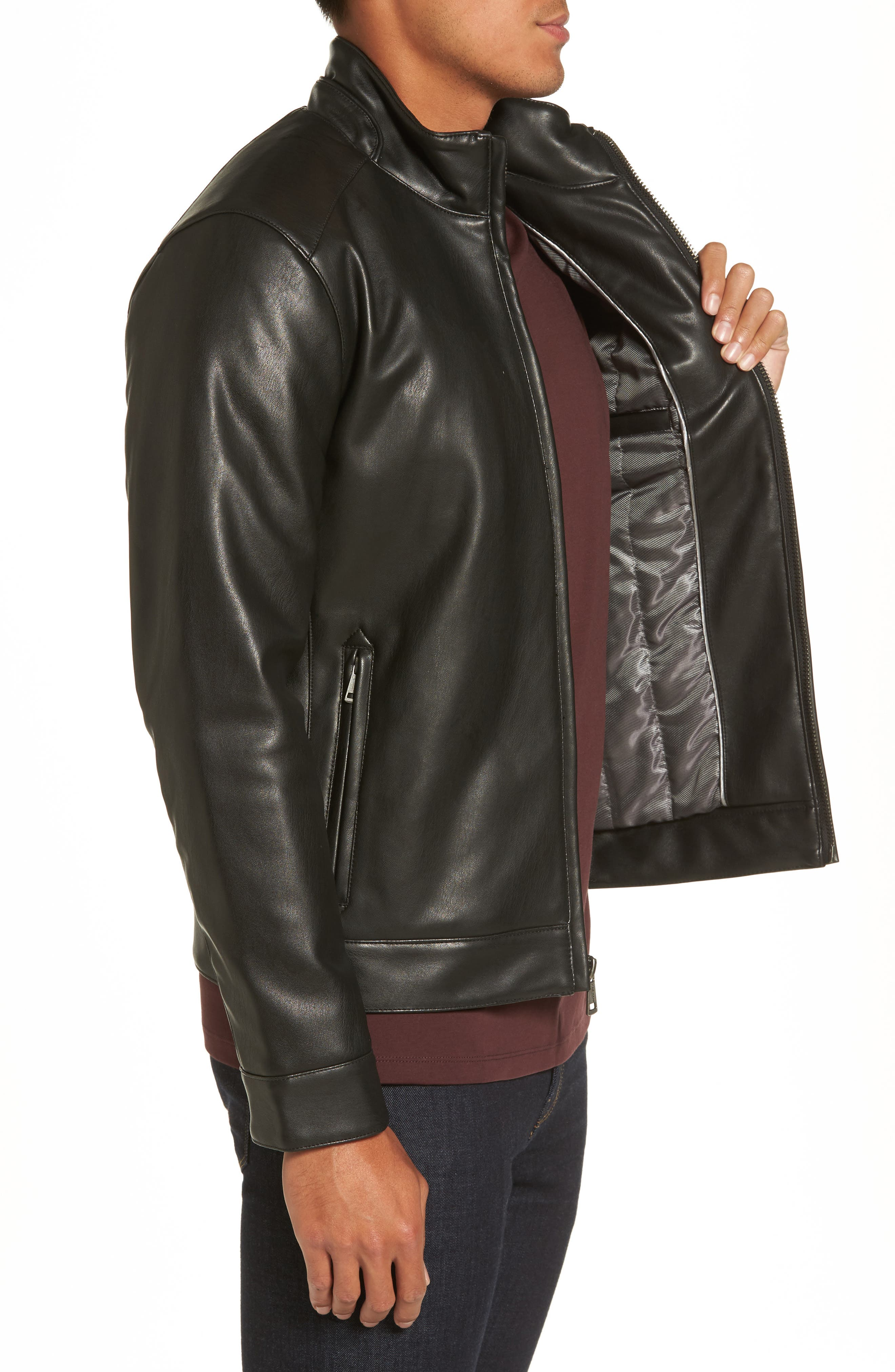 Alternate Image 3  - Cole Haan Faux Leather Jacket