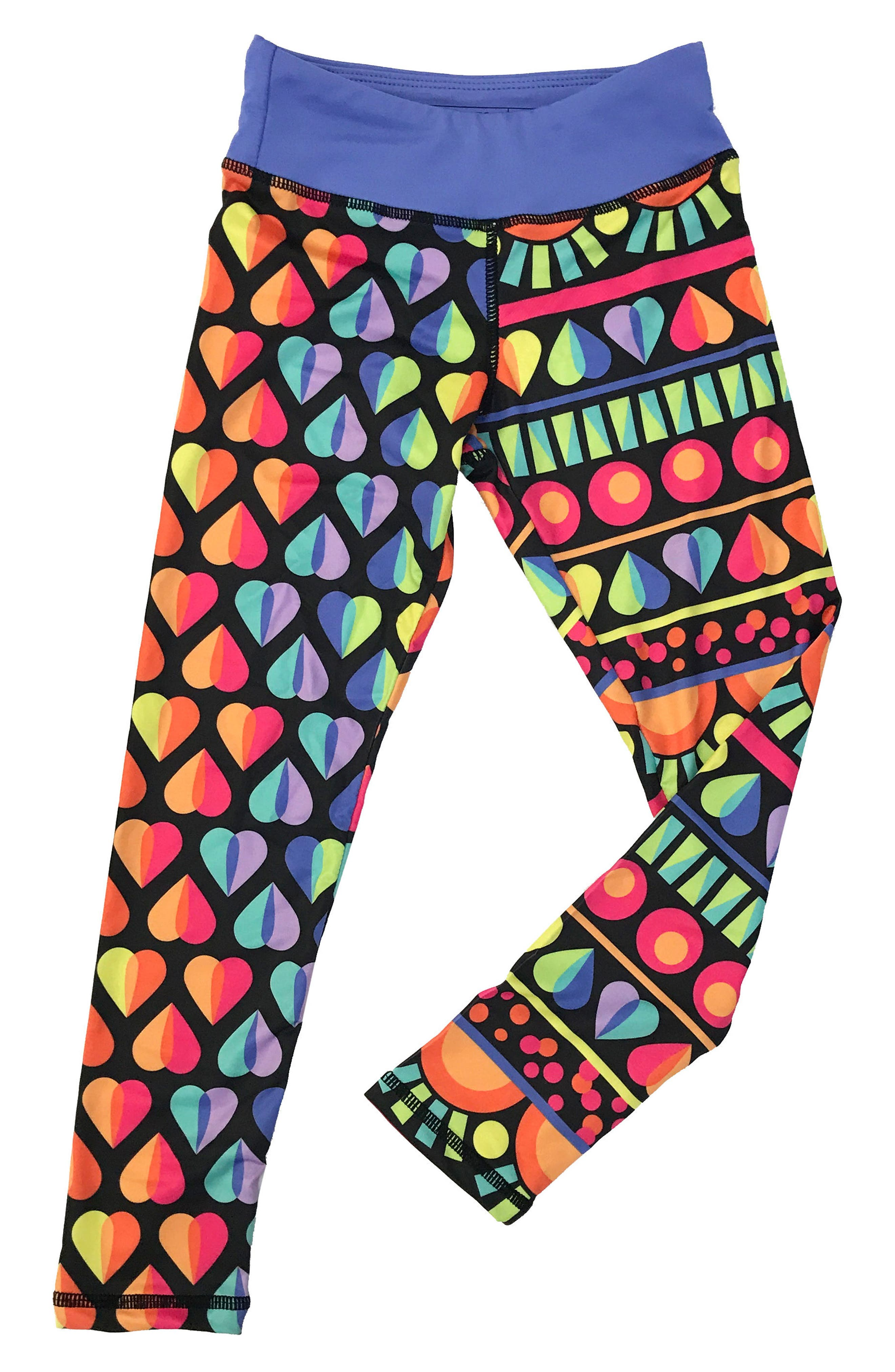CHOOZE 'Splits' Mixed Print Leggings (Little Girls & Big Girls)
