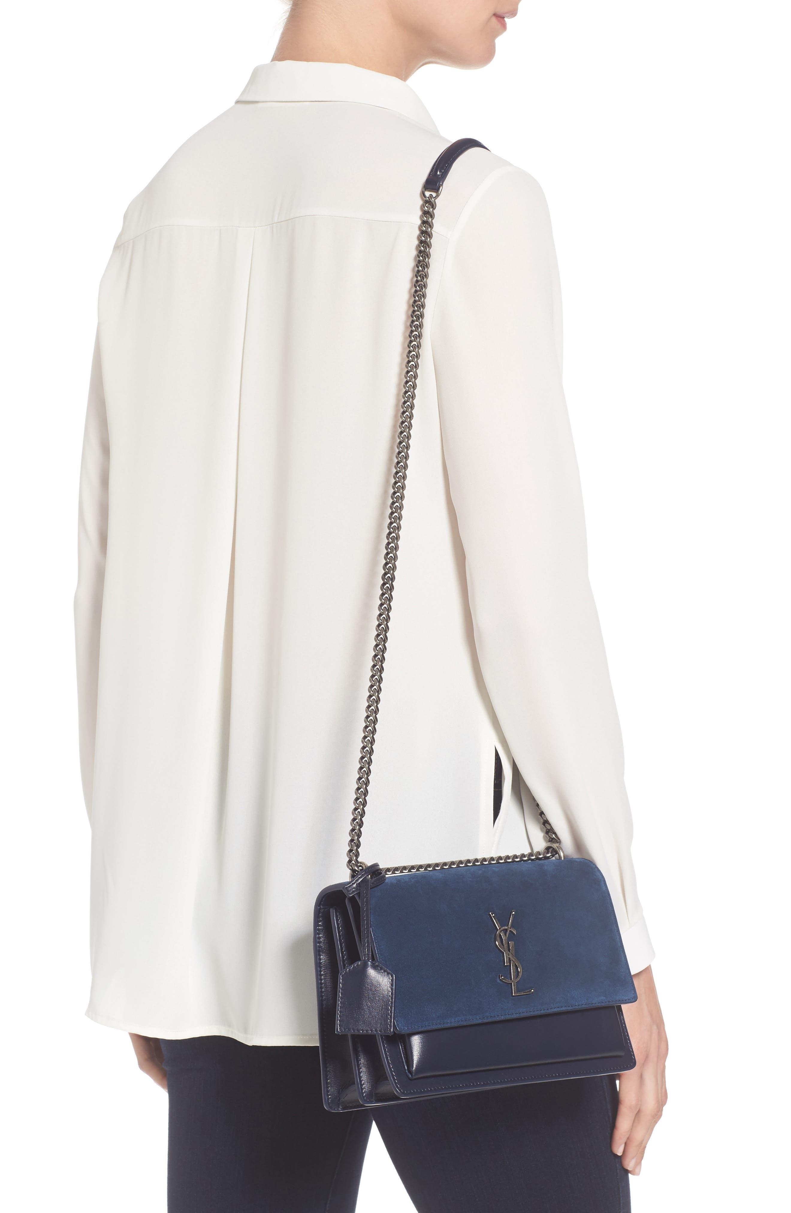 Alternate Image 2  - Saint Laurent Medium Sunset Leather & Suede Shoulder Bag