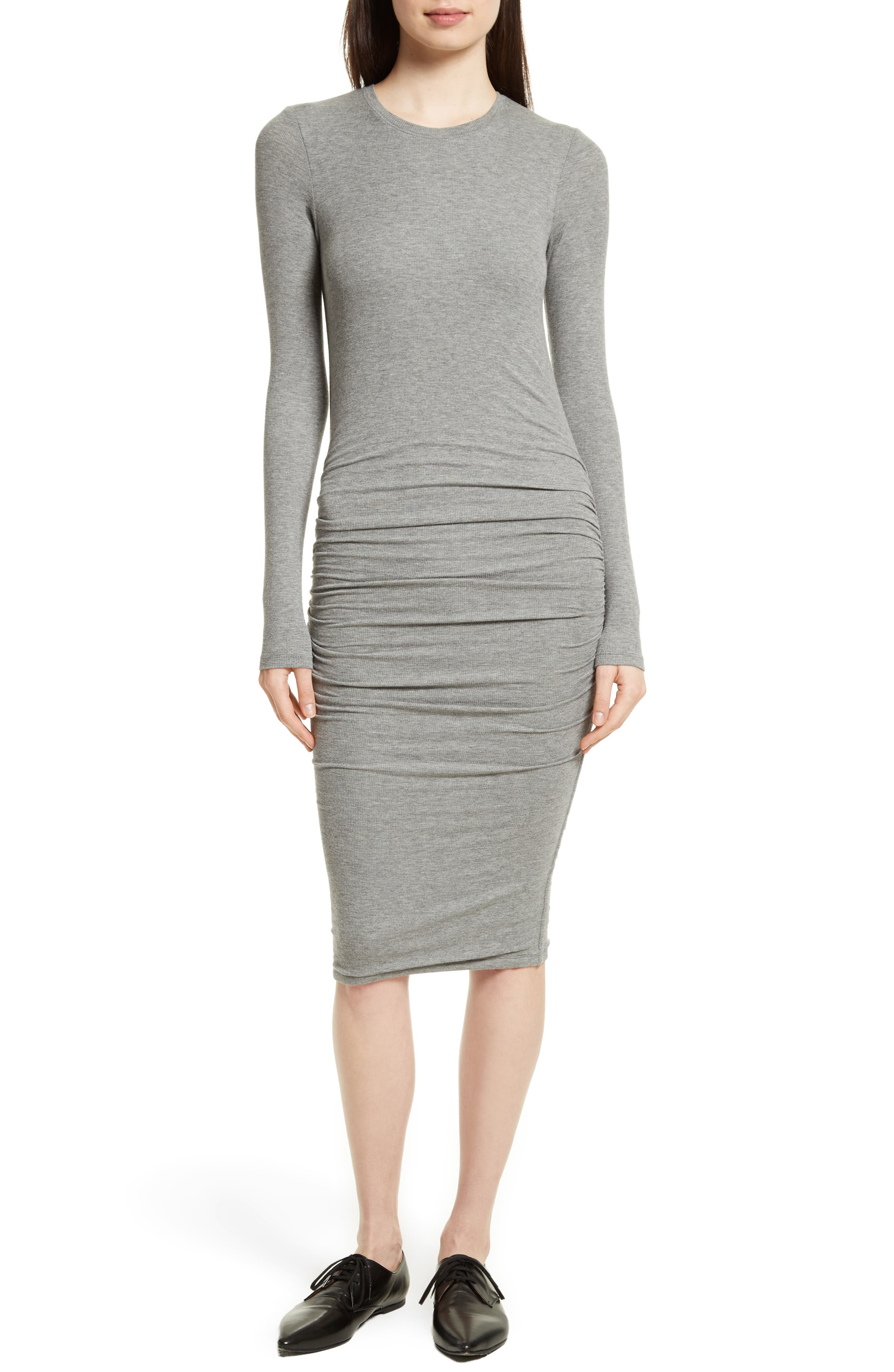 Alternate Image 1 Selected - ATM Anthony Thomas Melillo Ribbed Stretch Jersey Dress