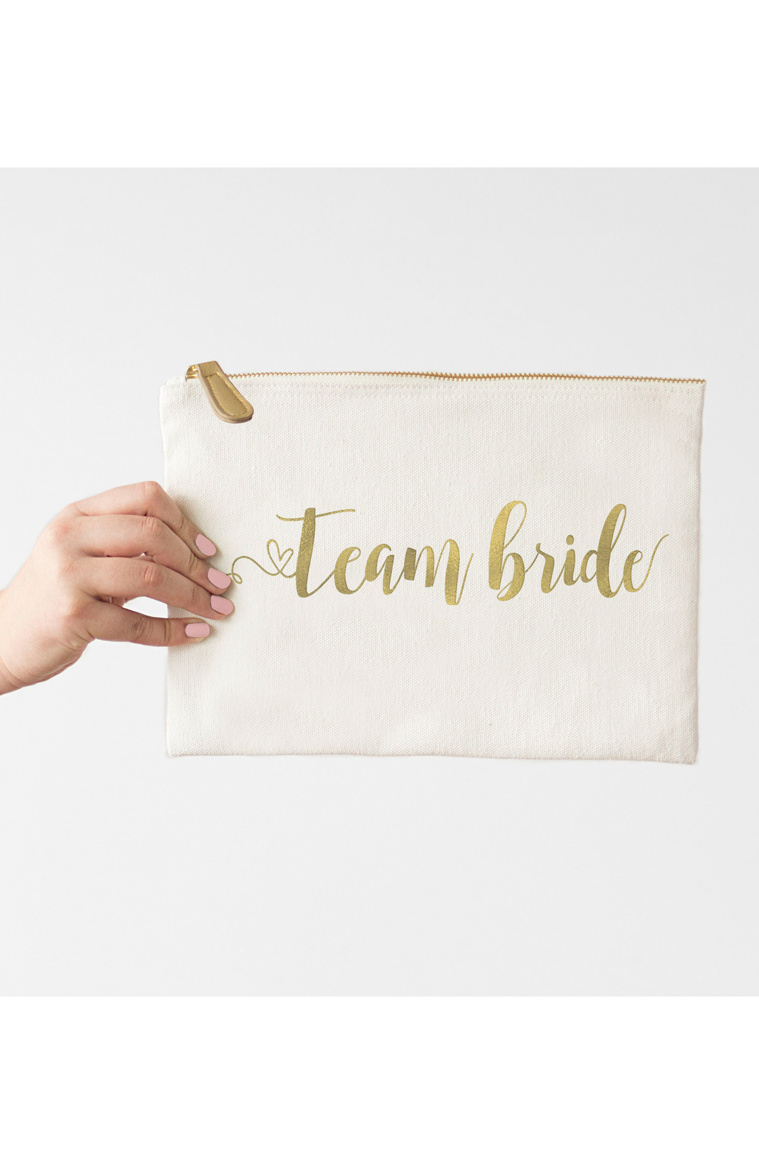 Alternate Image 2  - Cathy's Concepts Team Bride Canvas Pouch