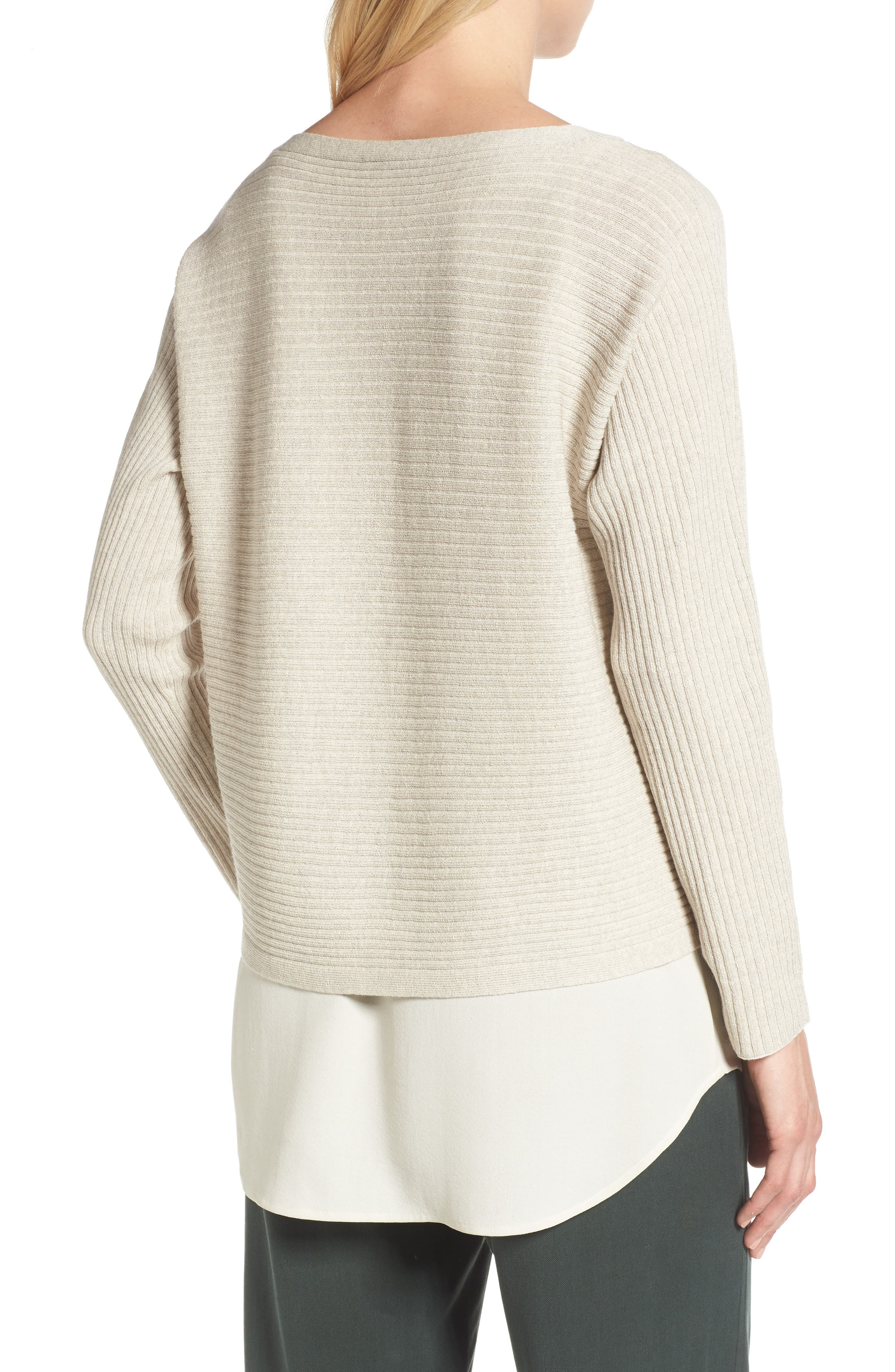 Alternate Image 2  - Eileen Fisher Boxy Ribbed Wool Sweater