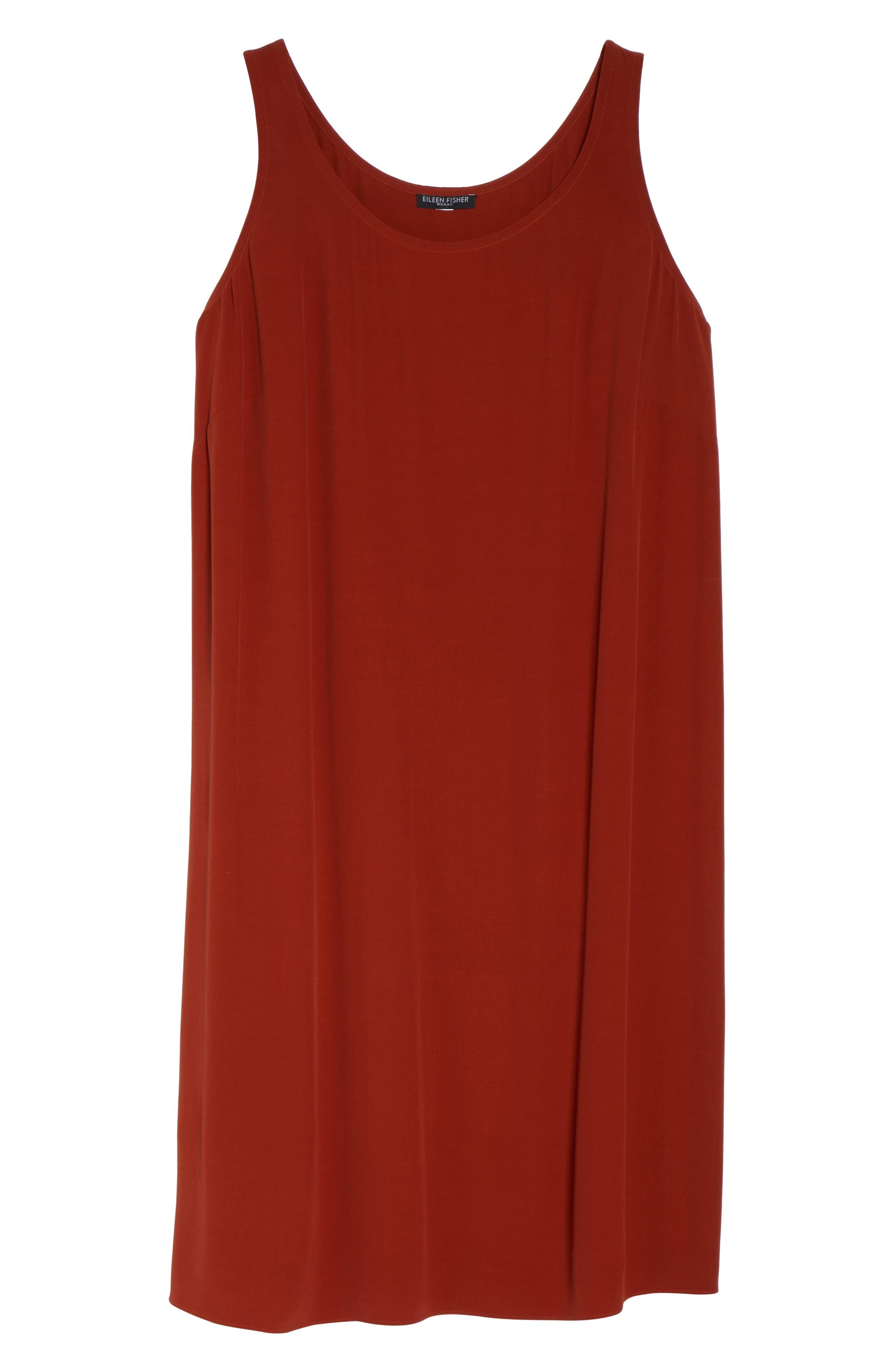 Tencel<sup>®</sup> Blend A-Line Shift Dress,                             Alternate thumbnail 6, color,                             Parka