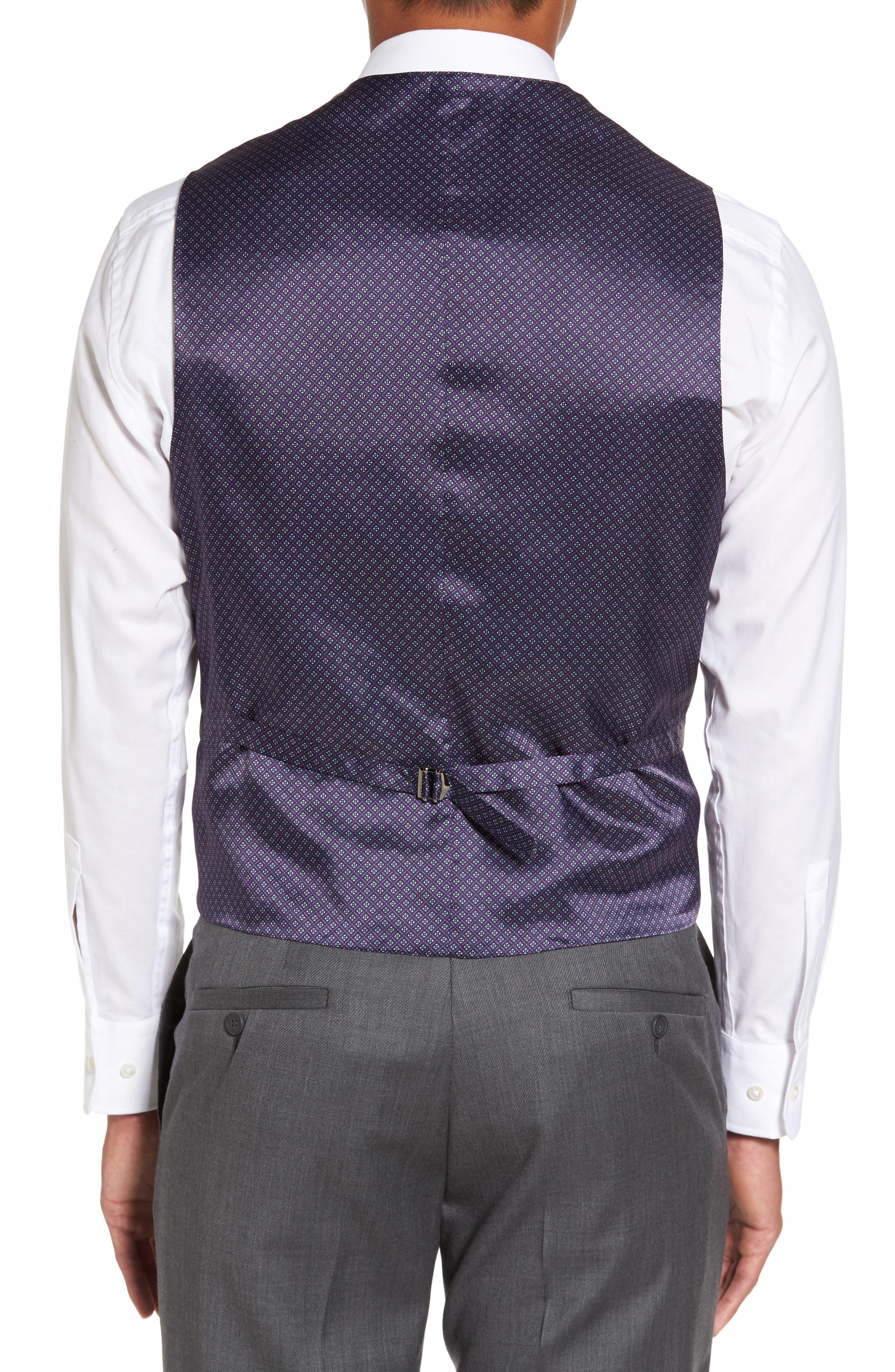 Alternate Image 2  - Ted Baker London Troy Trim Fit Solid Wool Vest