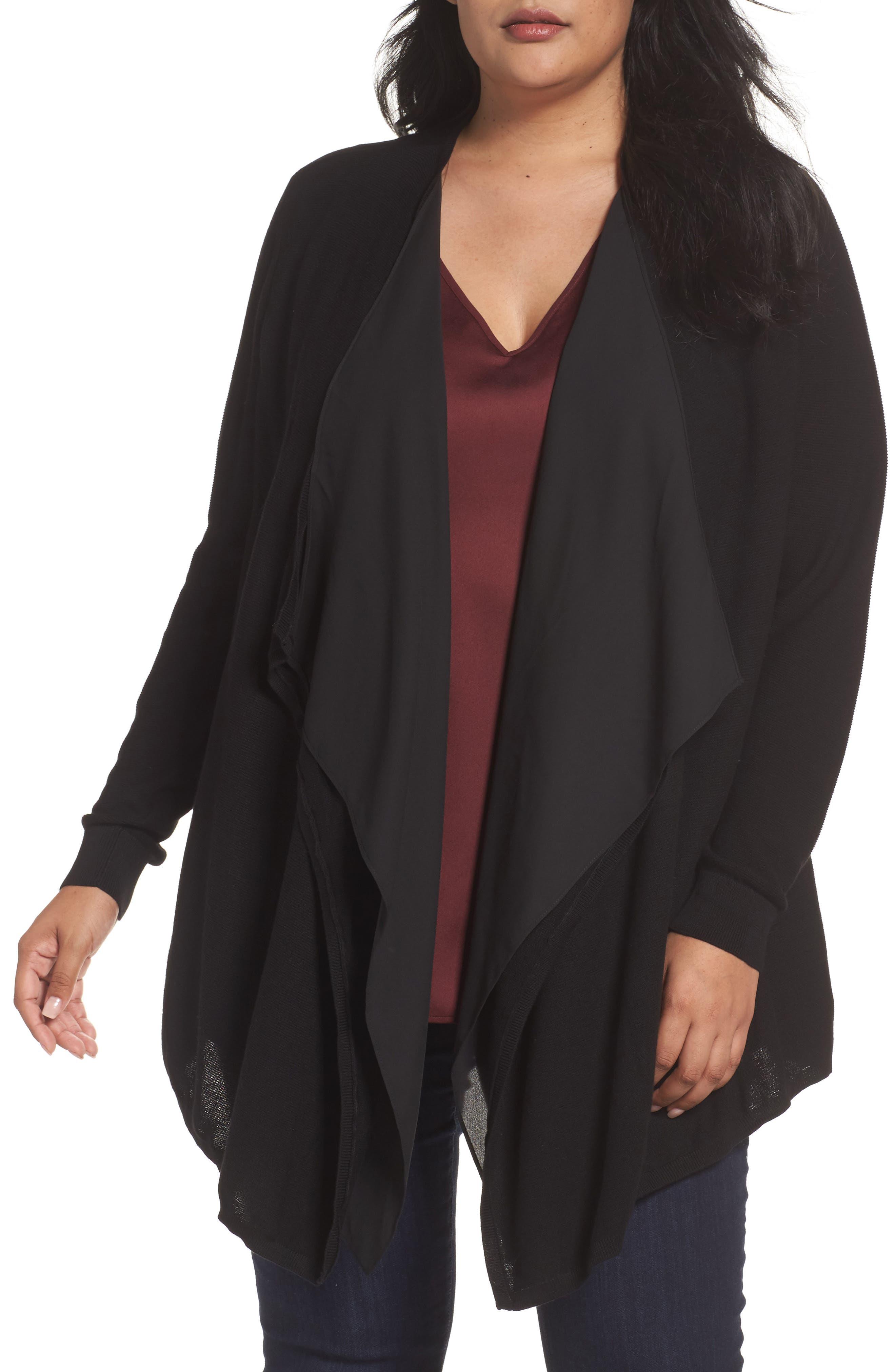 Sejour Double Layer Cardigan (Plus Size)