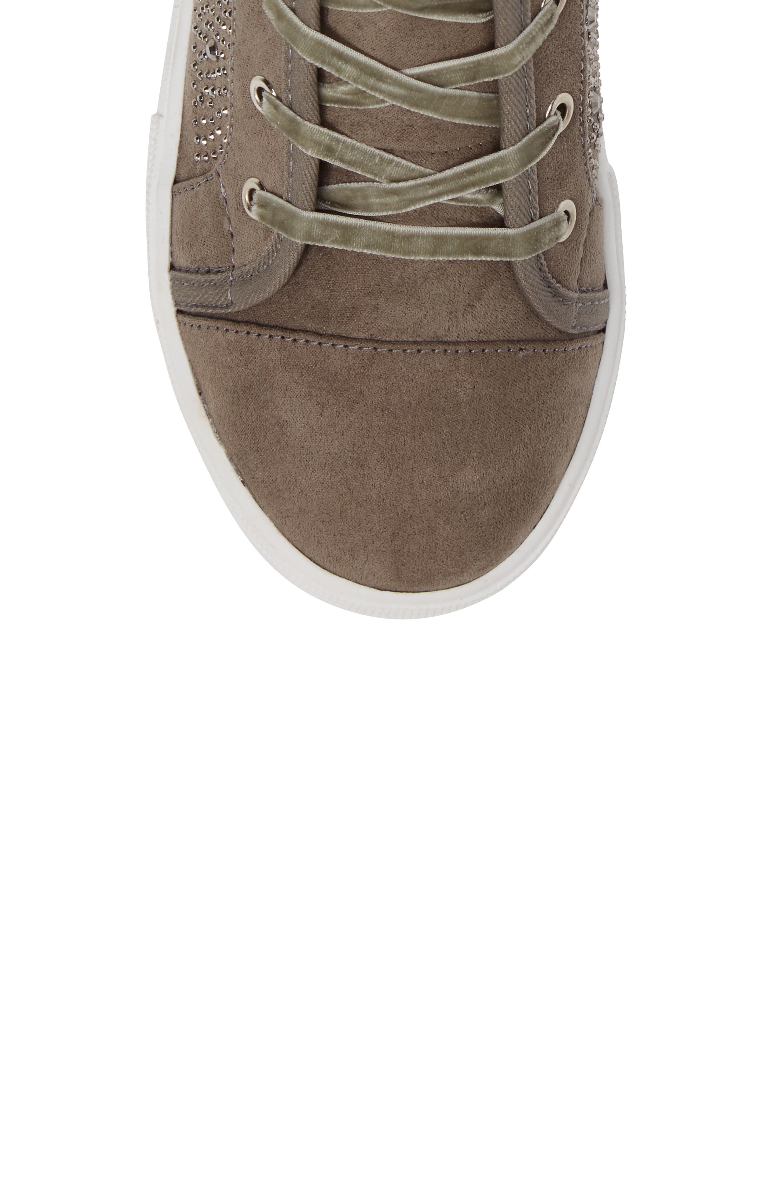 Alternate Image 5  - Stuart Weitzman Vance Embellished High Top Sneaker (Toddler, Little Kid & Big Kid)