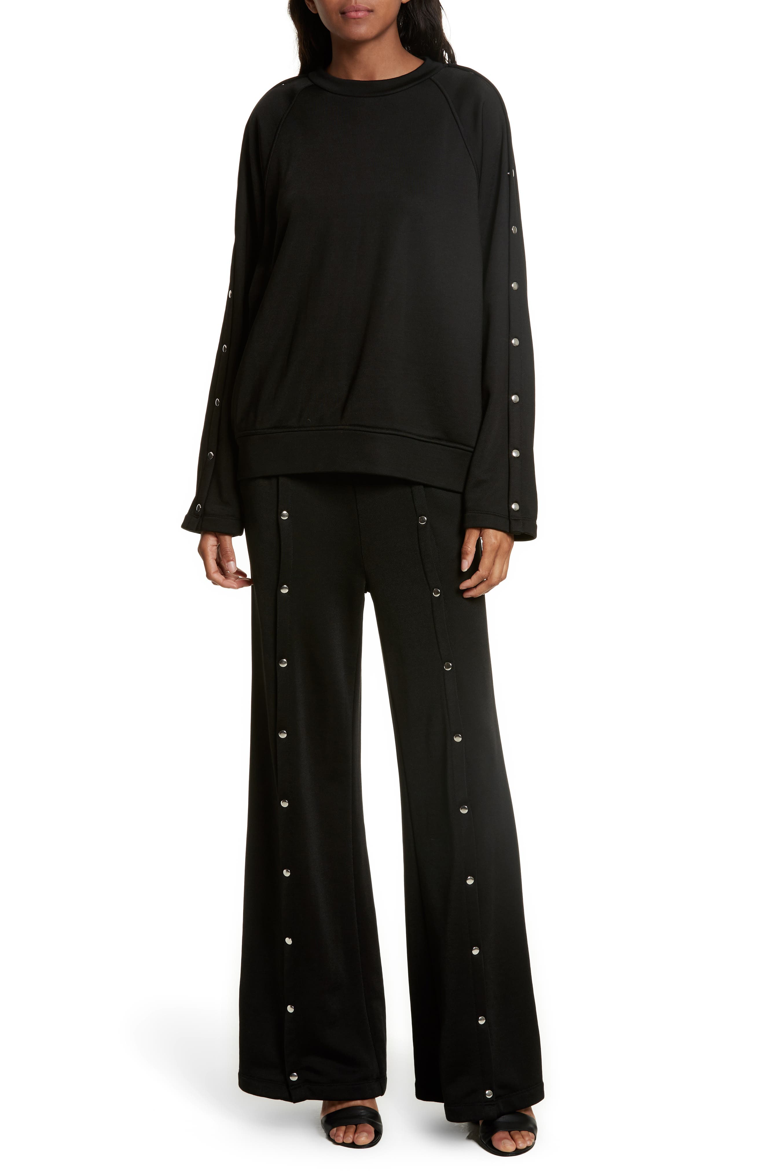 Alternate Image 7  - T by Alexander Wang French Terry Wide Leg Pants