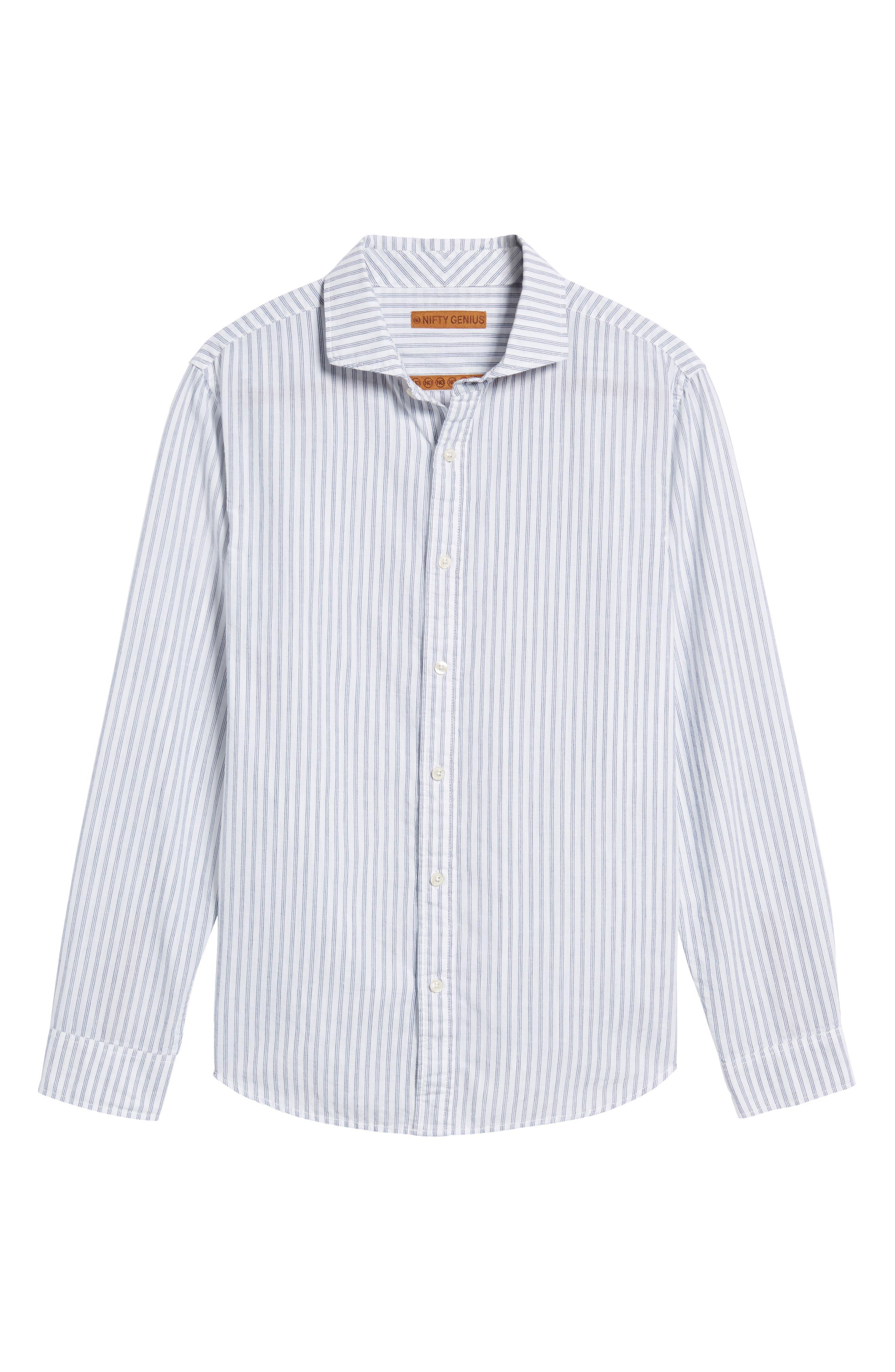 Alternate Image 6  - Nifty Genius Earnest Stripe Sport Shirt