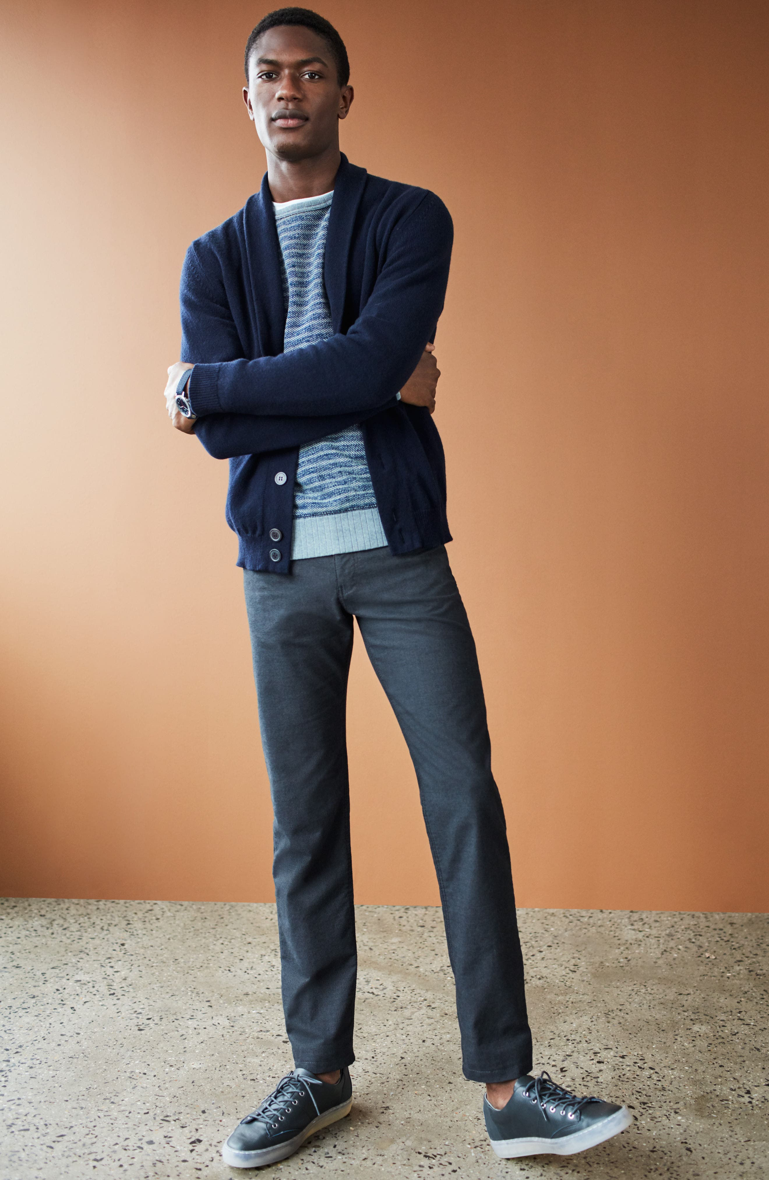Alternate Image 9  - Brax Five-Pocket Stretch Cotton Trousers