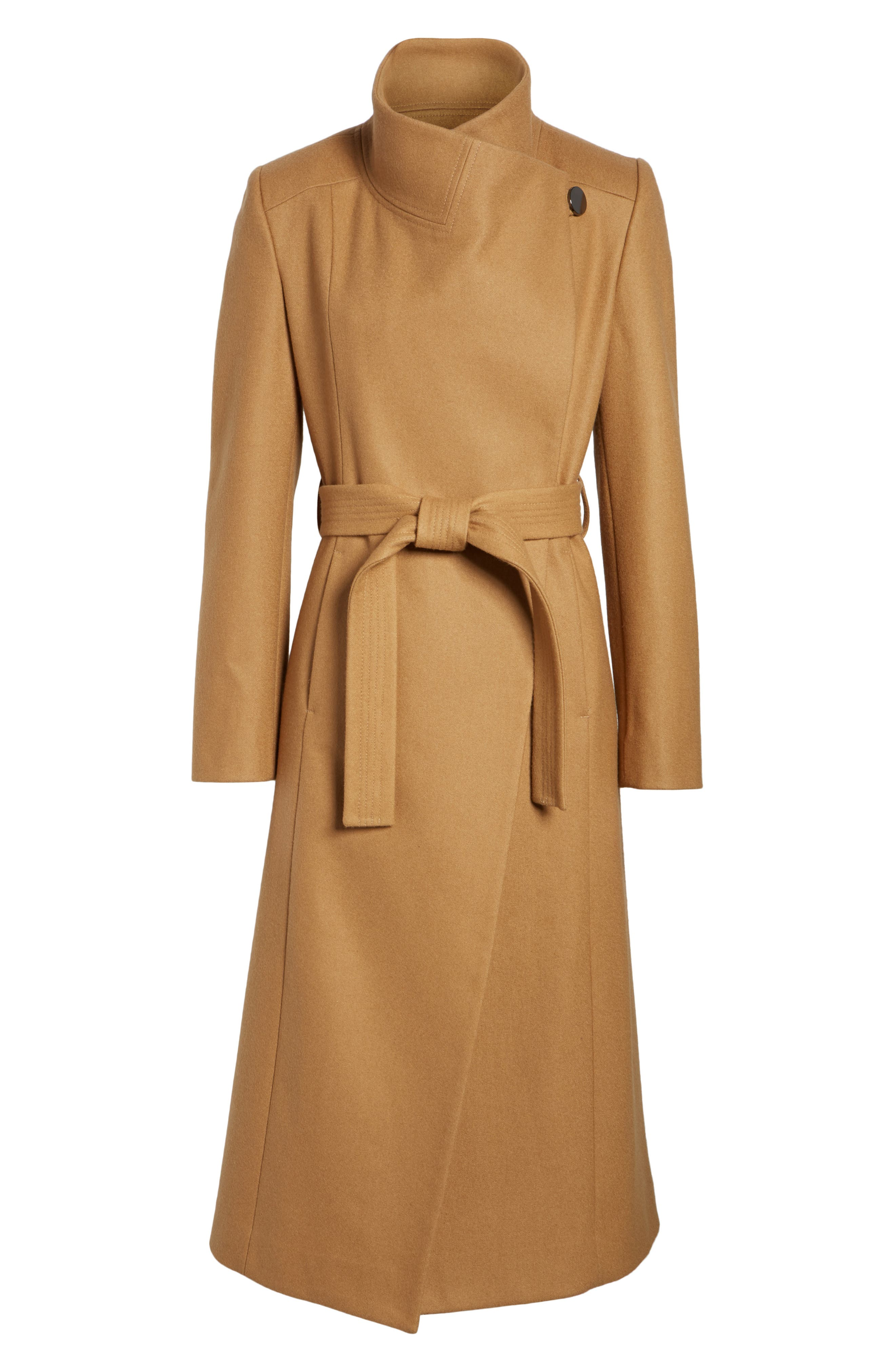 Alternate Image 6  - Kenneth Cole New York Wool Blend Maxi Wrap Coat