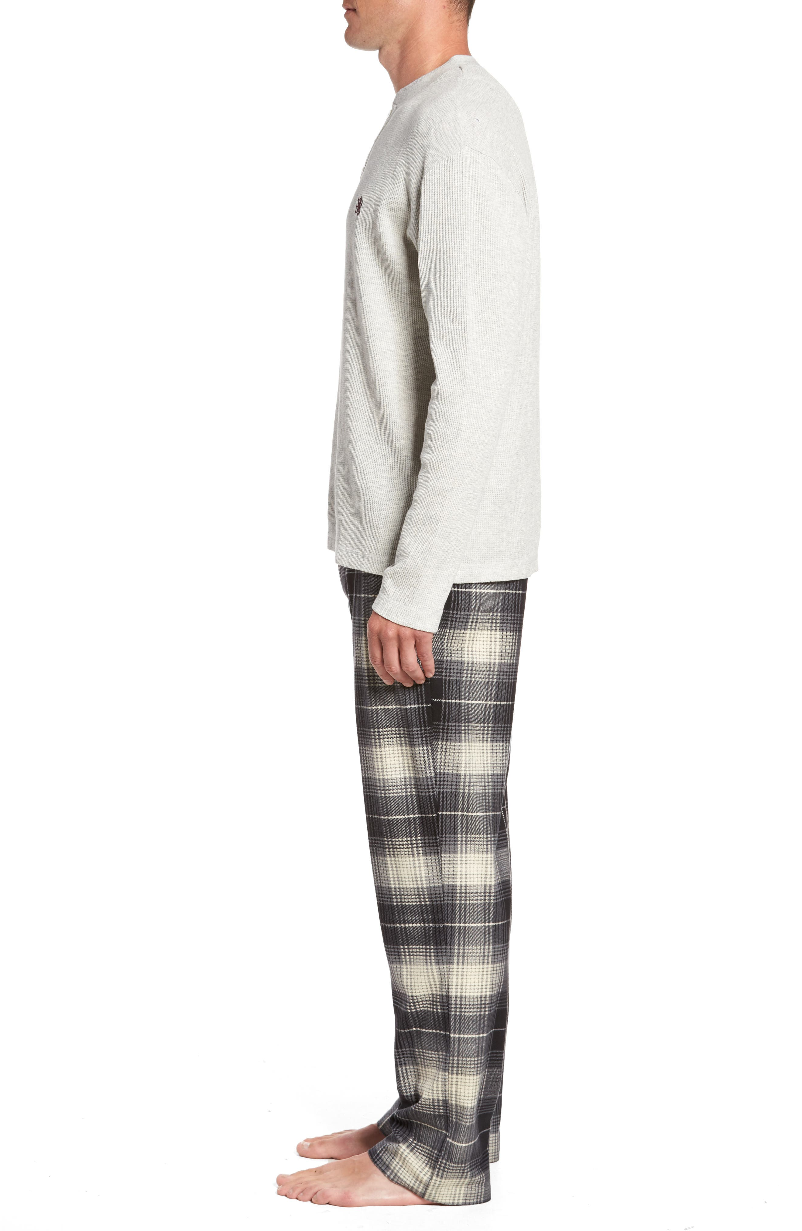 Alternate Image 3  - Majestic International Nifty Gift Henley Shirt & Lounge Pants