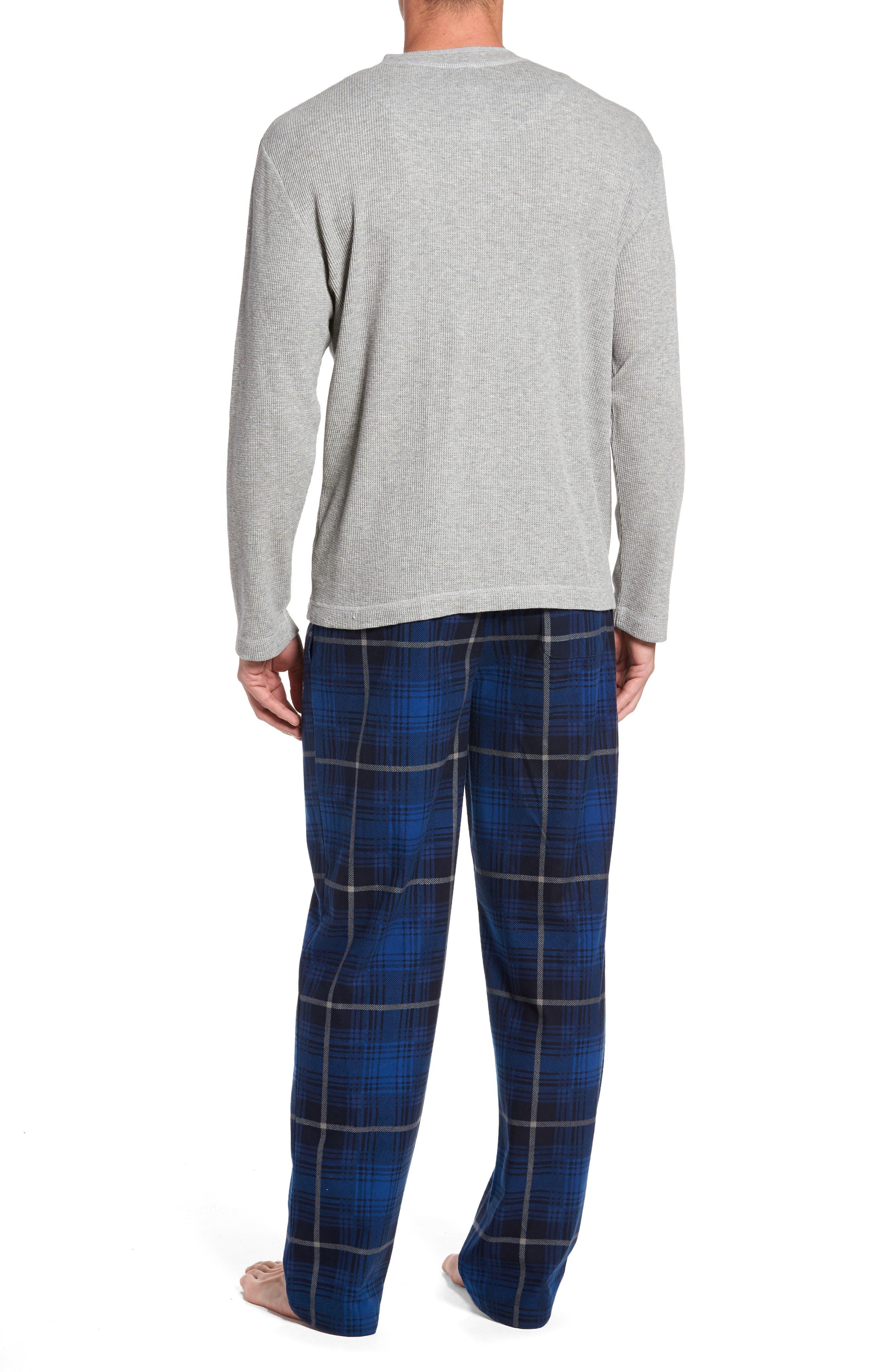 Alternate Image 2  - Majestic International Nifty Gift Henley Shirt & Lounge Pants