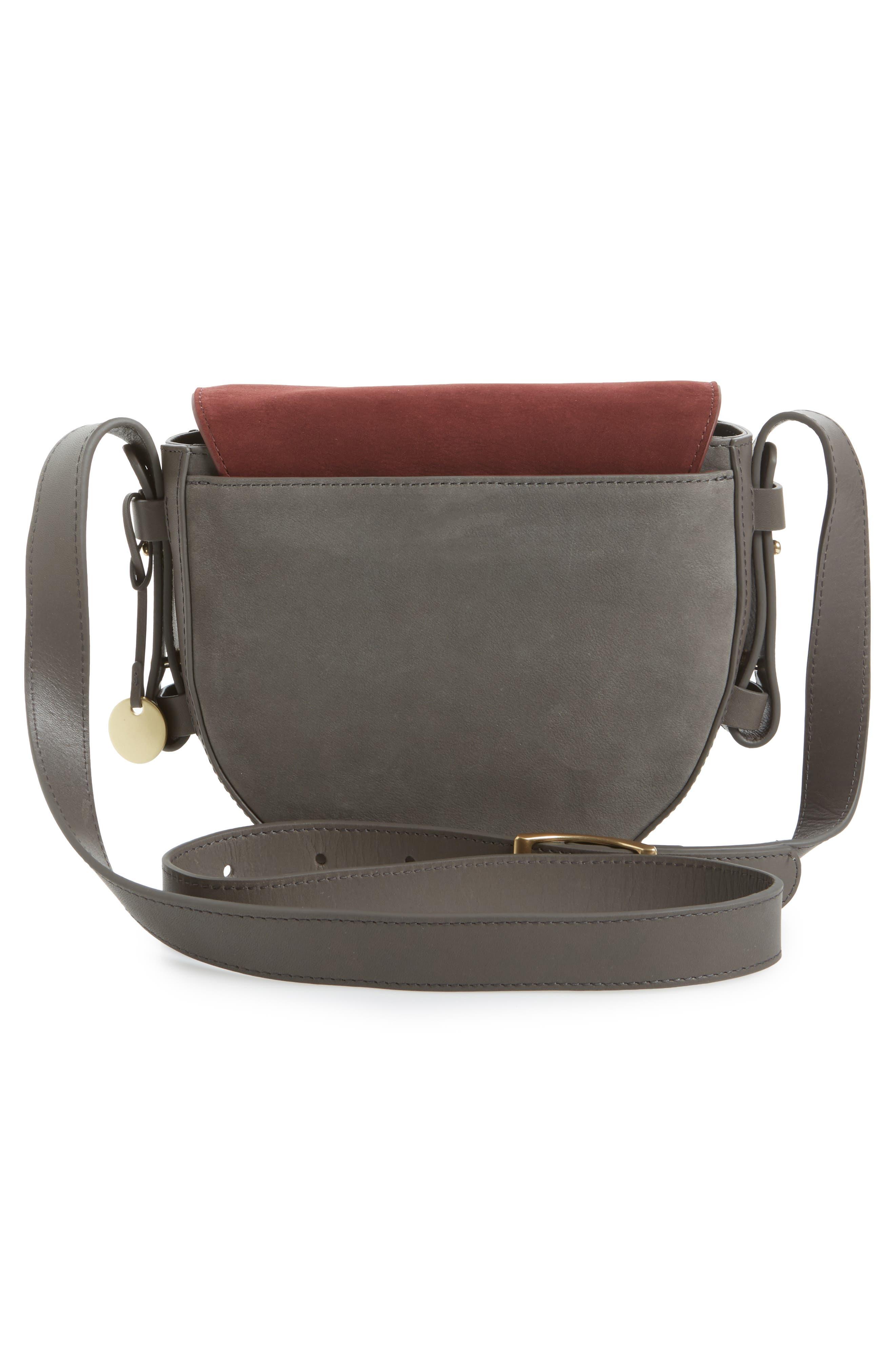 Lobelle Leather Saddle Bag,                             Alternate thumbnail 2, color,                             Pewter