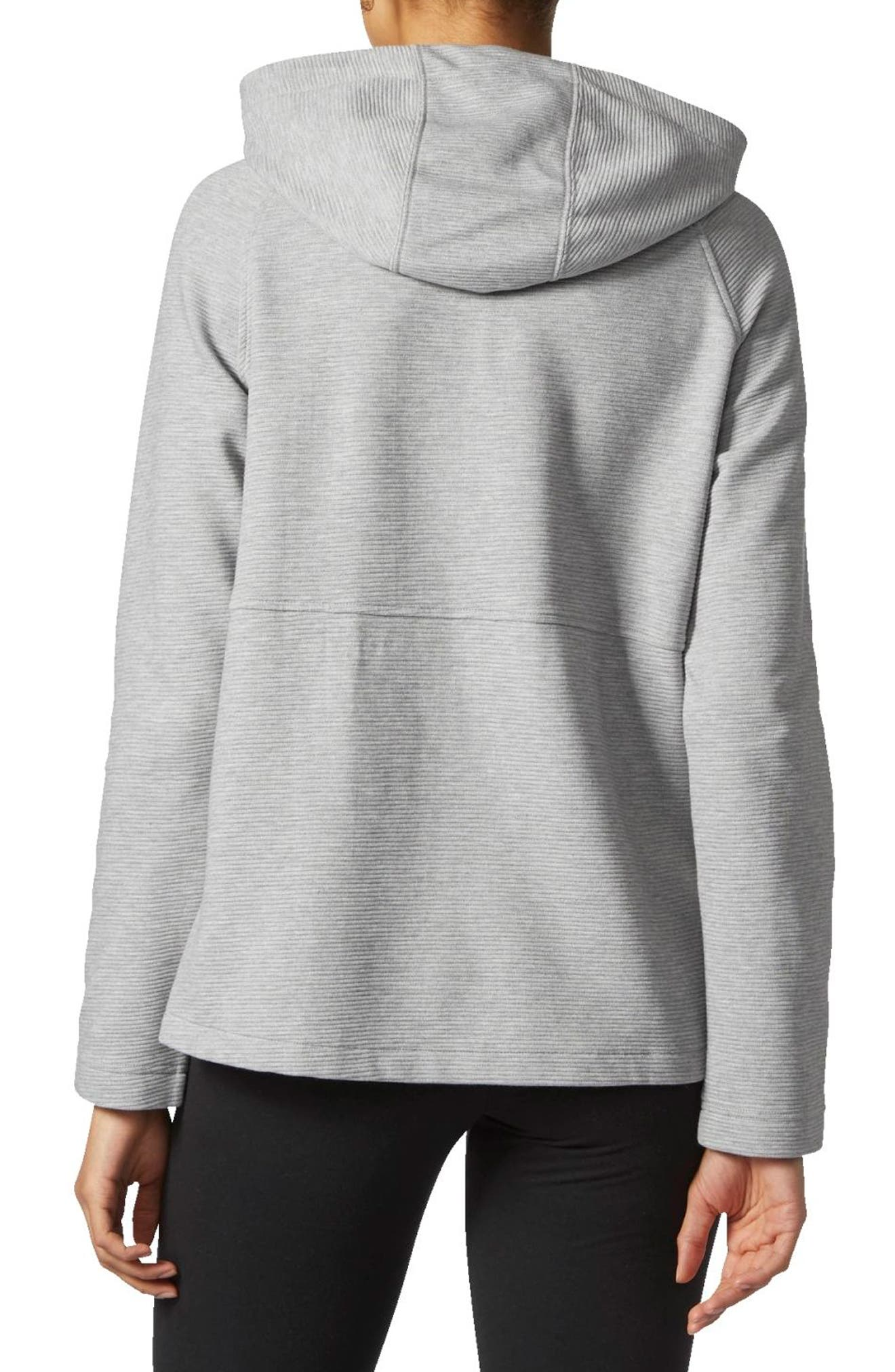 Alternate Image 2  - adidas Zip Fleece Hoodie