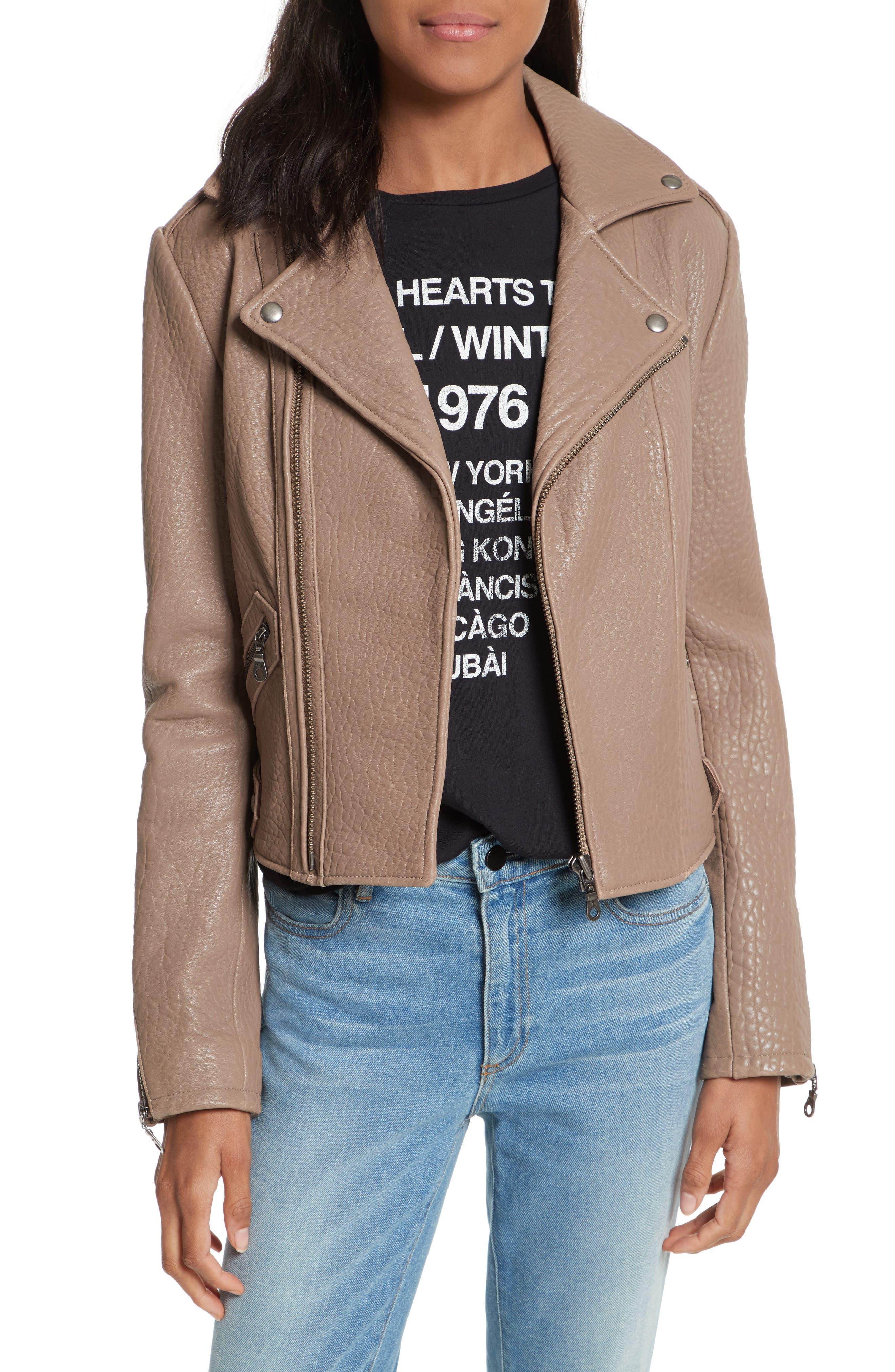 Main Image - Rebecca Minkoff Wolf Leather Moto Jacket
