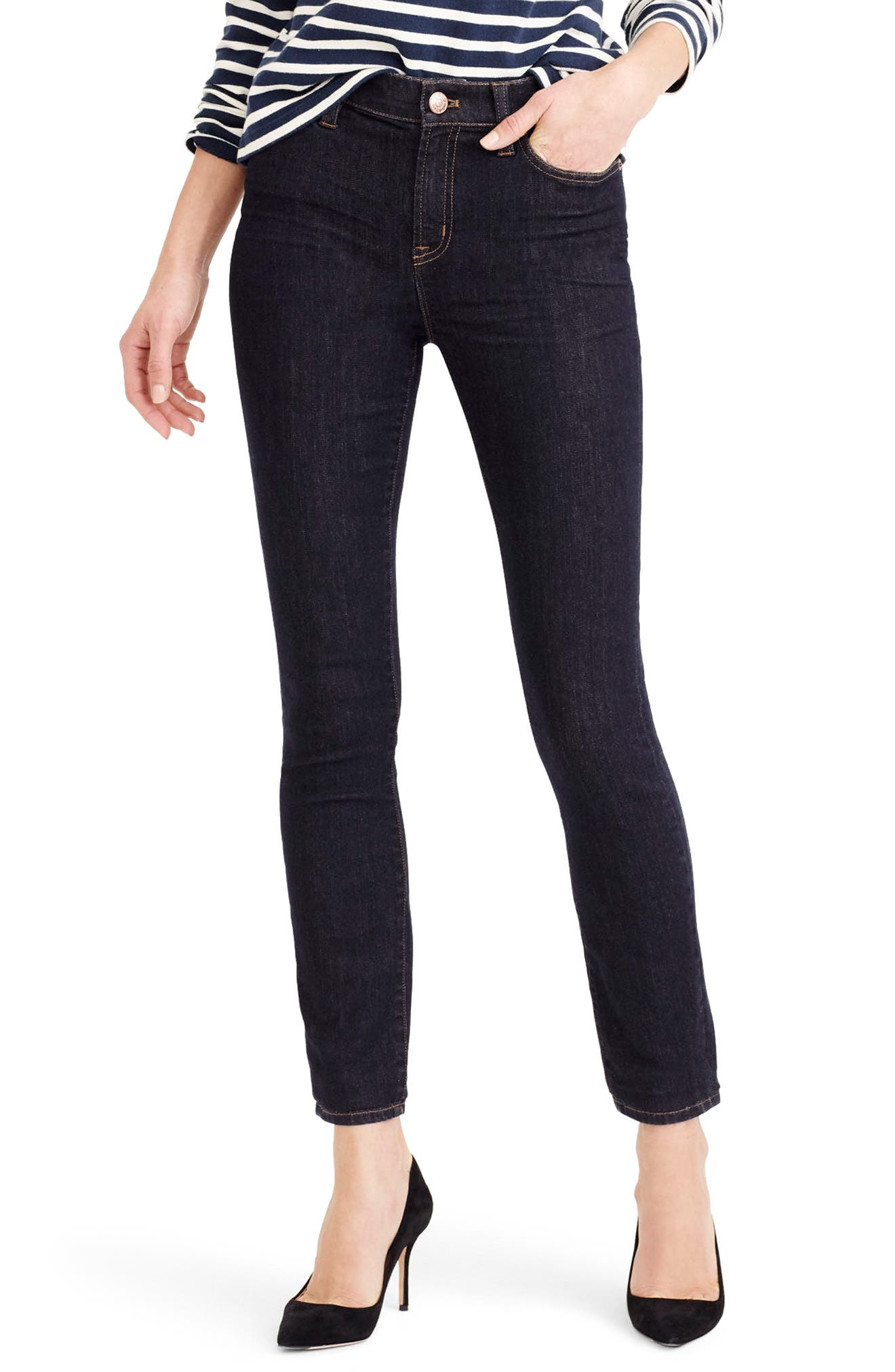 Alternate Image 1 Selected - J.Crew Lookout High Rise Jeans (Resin) (Regular & Petite)